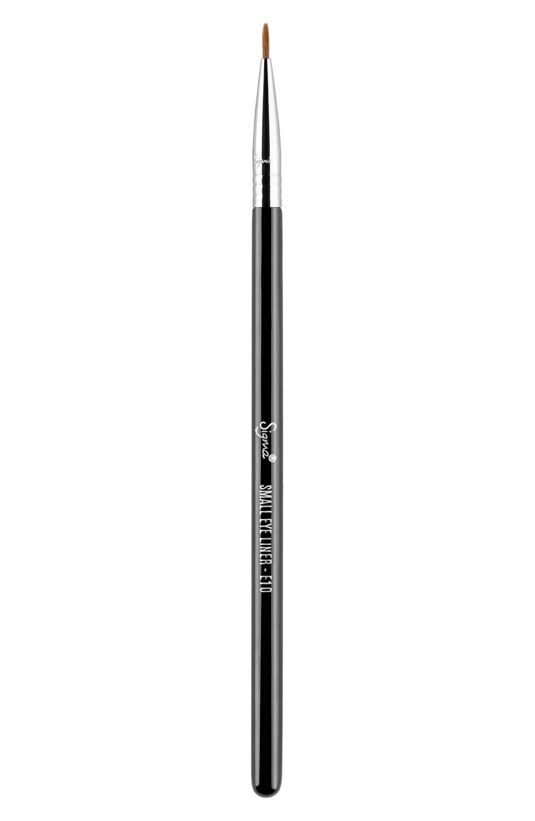 E10 Small Eye Liner Brush,                             Main thumbnail 1, color,                             NO COLOR