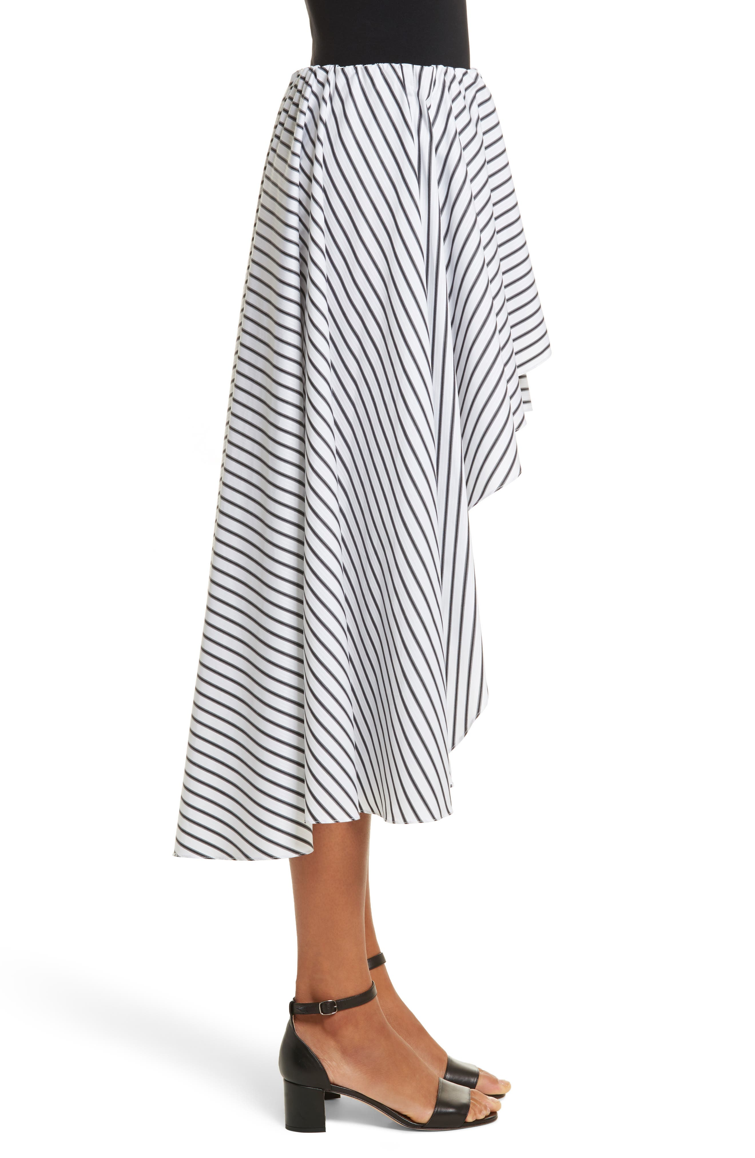 Adelle High/Low Ruffle Skirt,                             Alternate thumbnail 3, color,