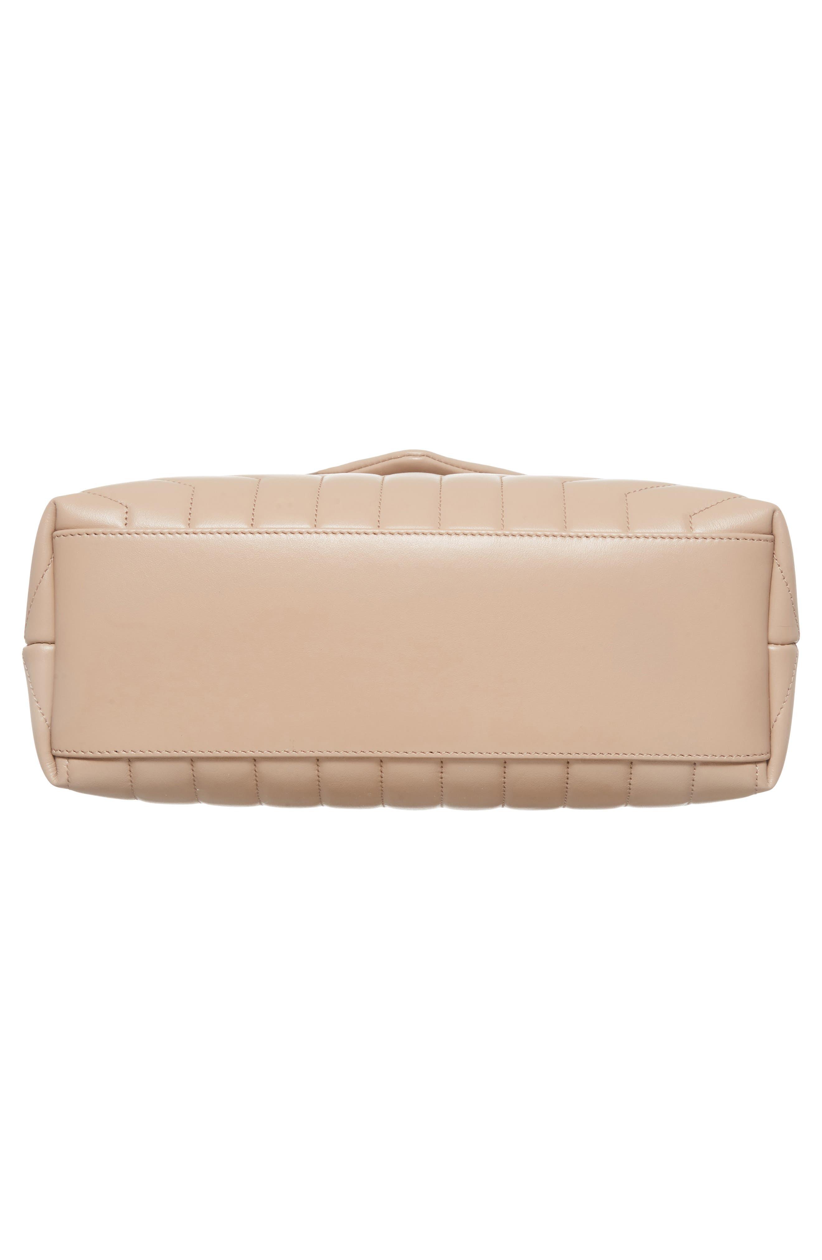 Medium Loulou Matelassé Calfskin Leather Shoulder Bag,                             Alternate thumbnail 6, color,                             LIGHT NATURAL