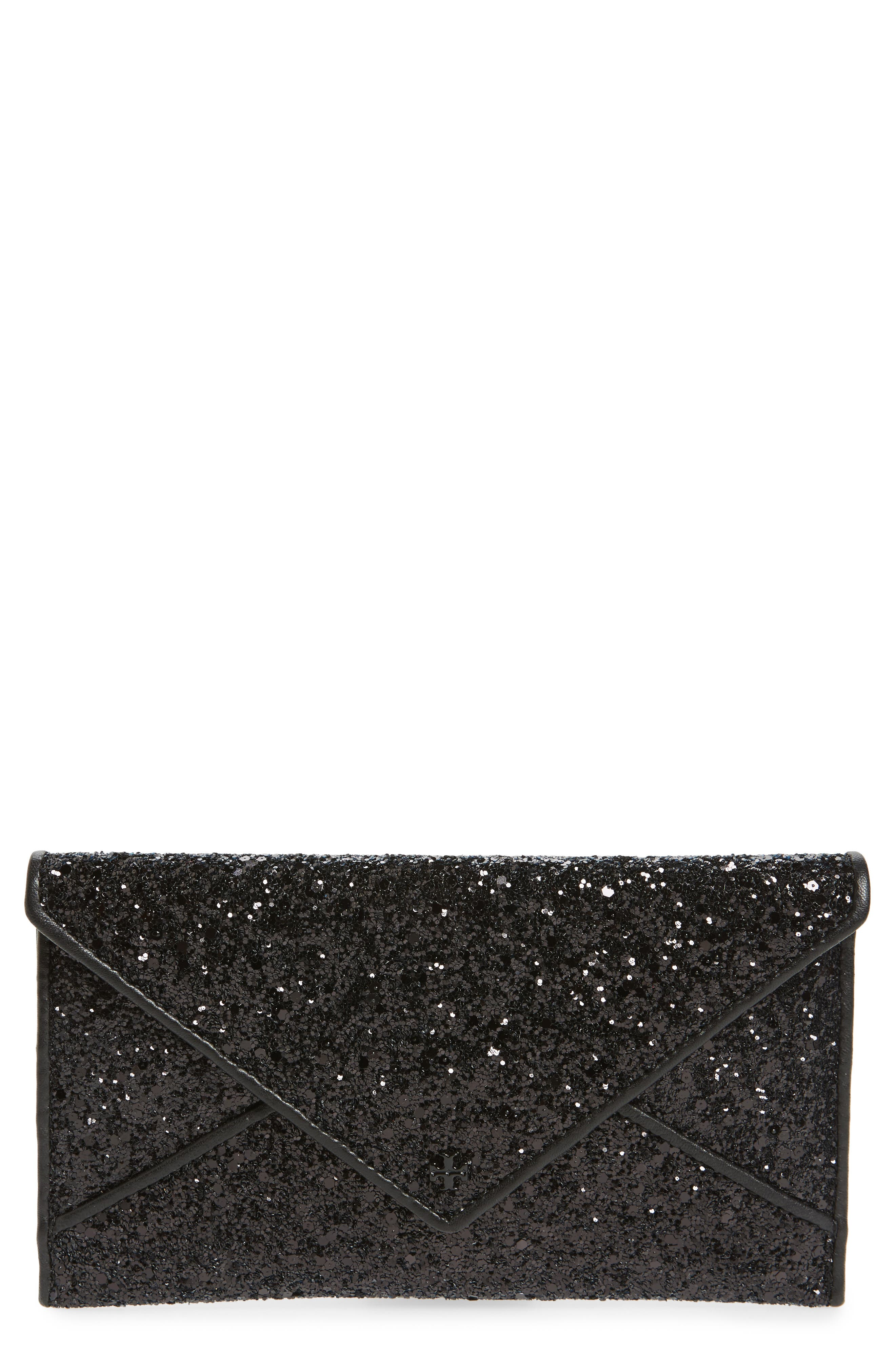 Glitter Envelope Clutch,                         Main,                         color, 001