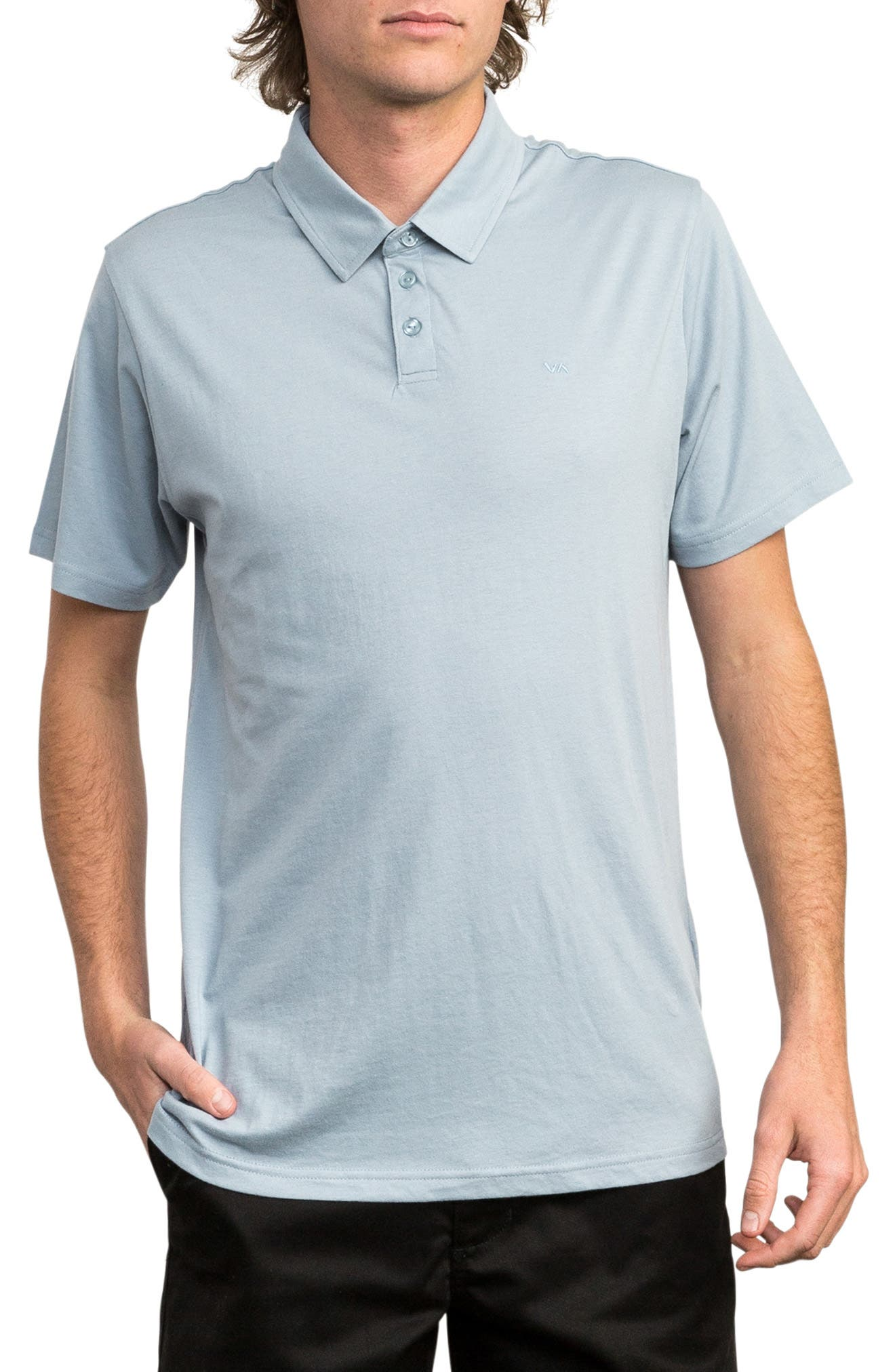 Sure Thing II Polo,                         Main,                         color, DUSTY BLUE