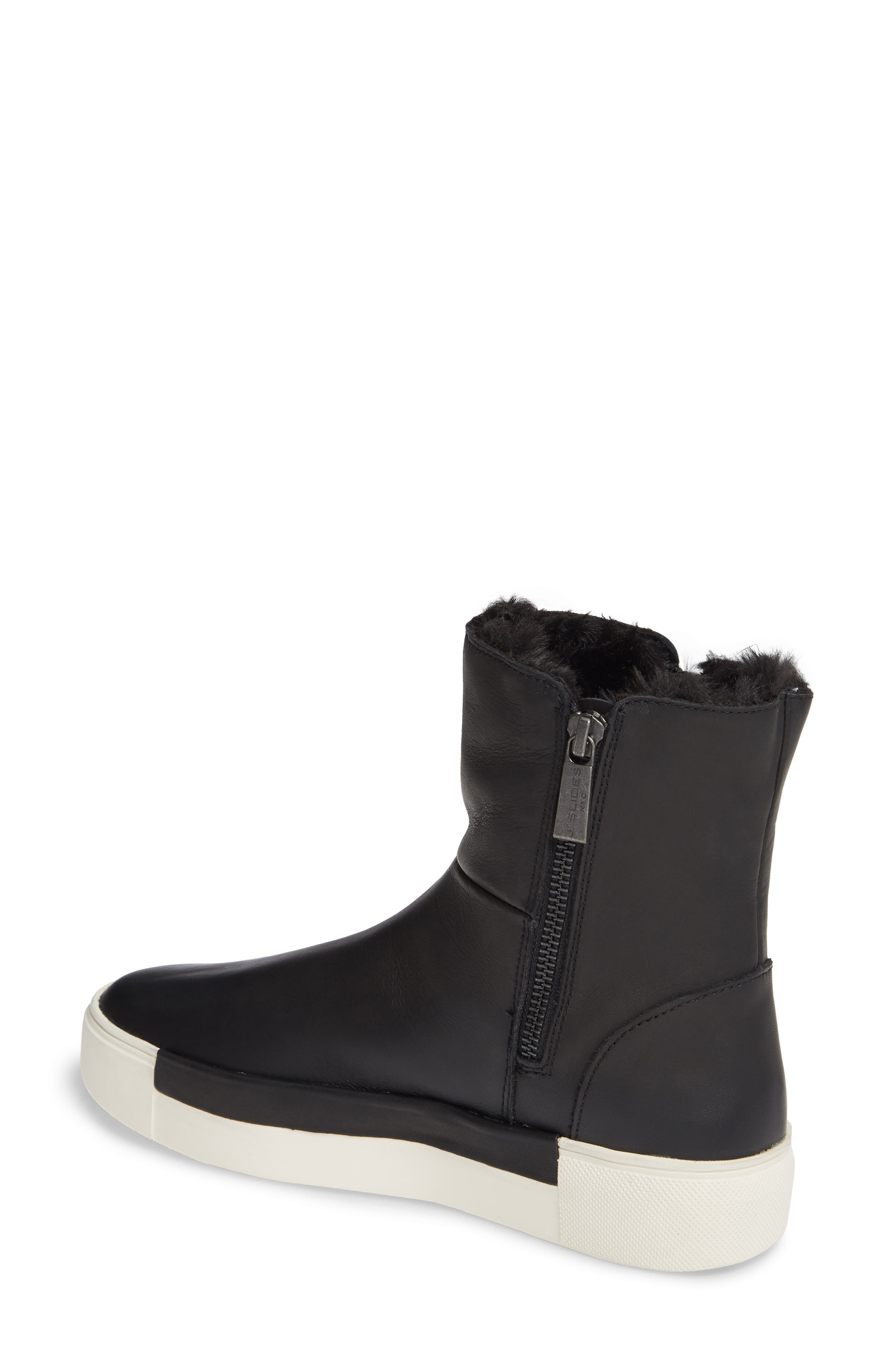 Victory Double Zip Boot,                             Alternate thumbnail 2, color,                             BLACK WATERPROOF LEATHER