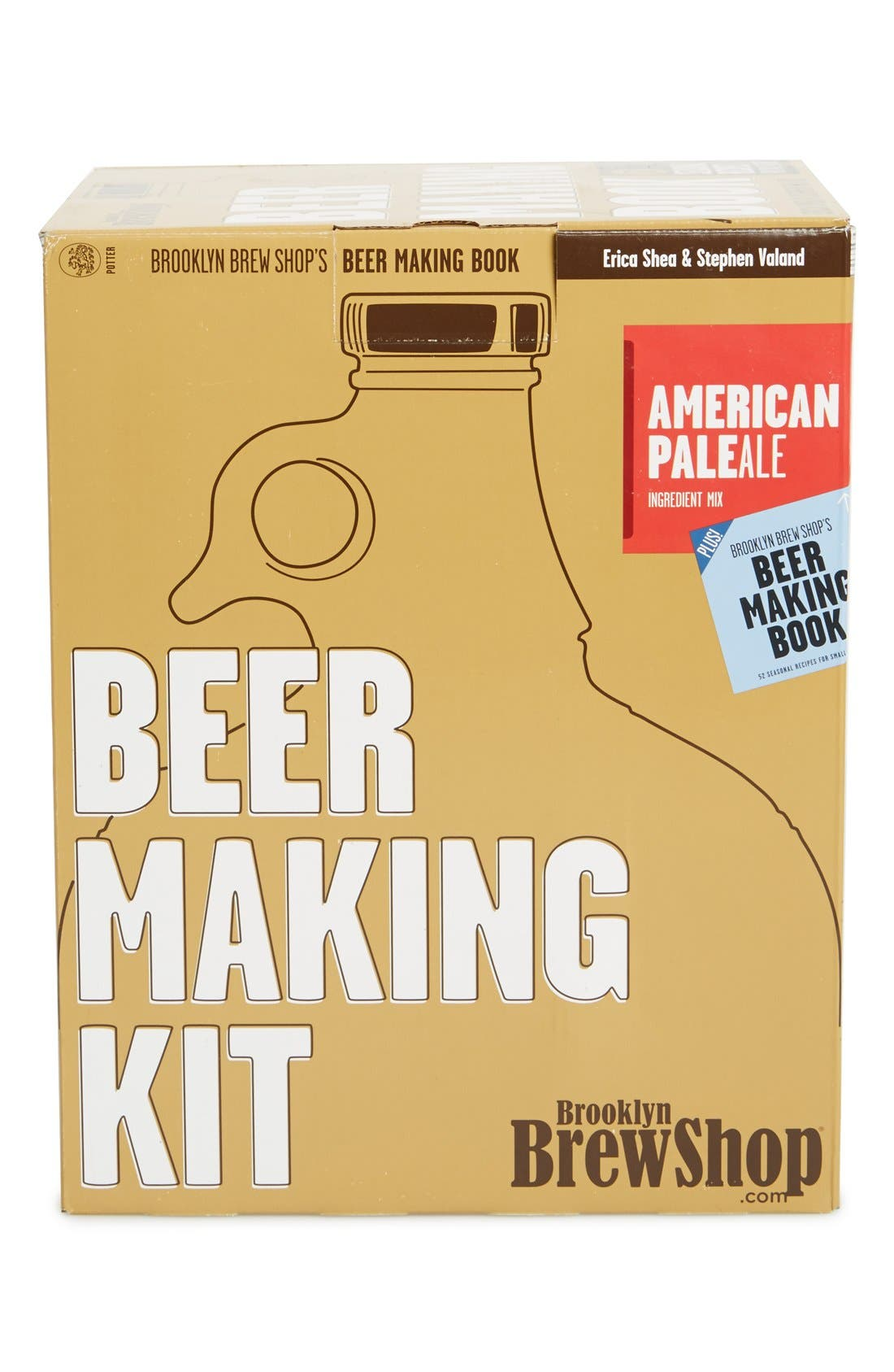 'American Pale Ale' One-Gallon Beer Making Kit with Recipe Book, Main, color, 400