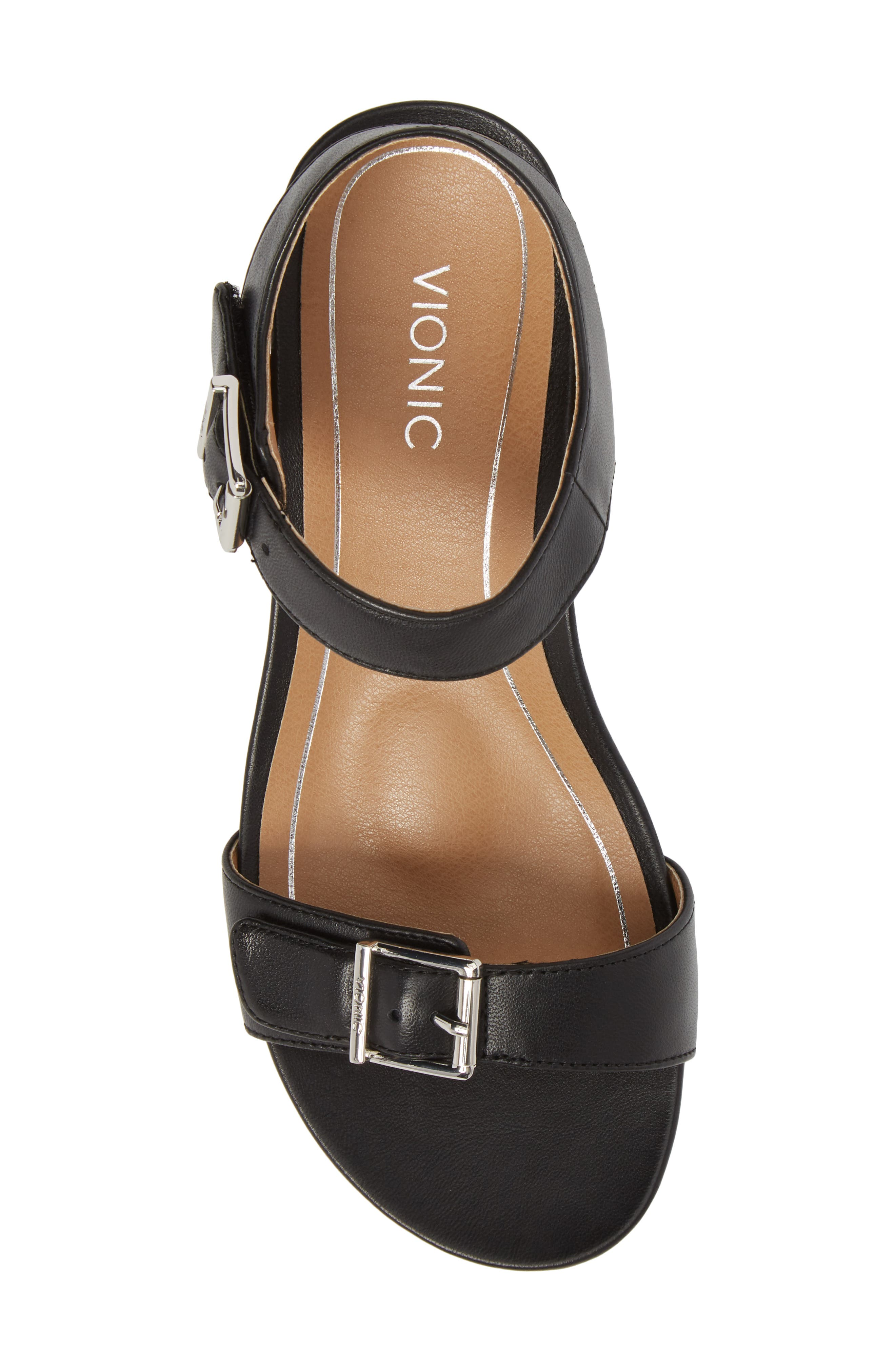 Frances Wedge Sandal,                             Alternate thumbnail 5, color,                             001