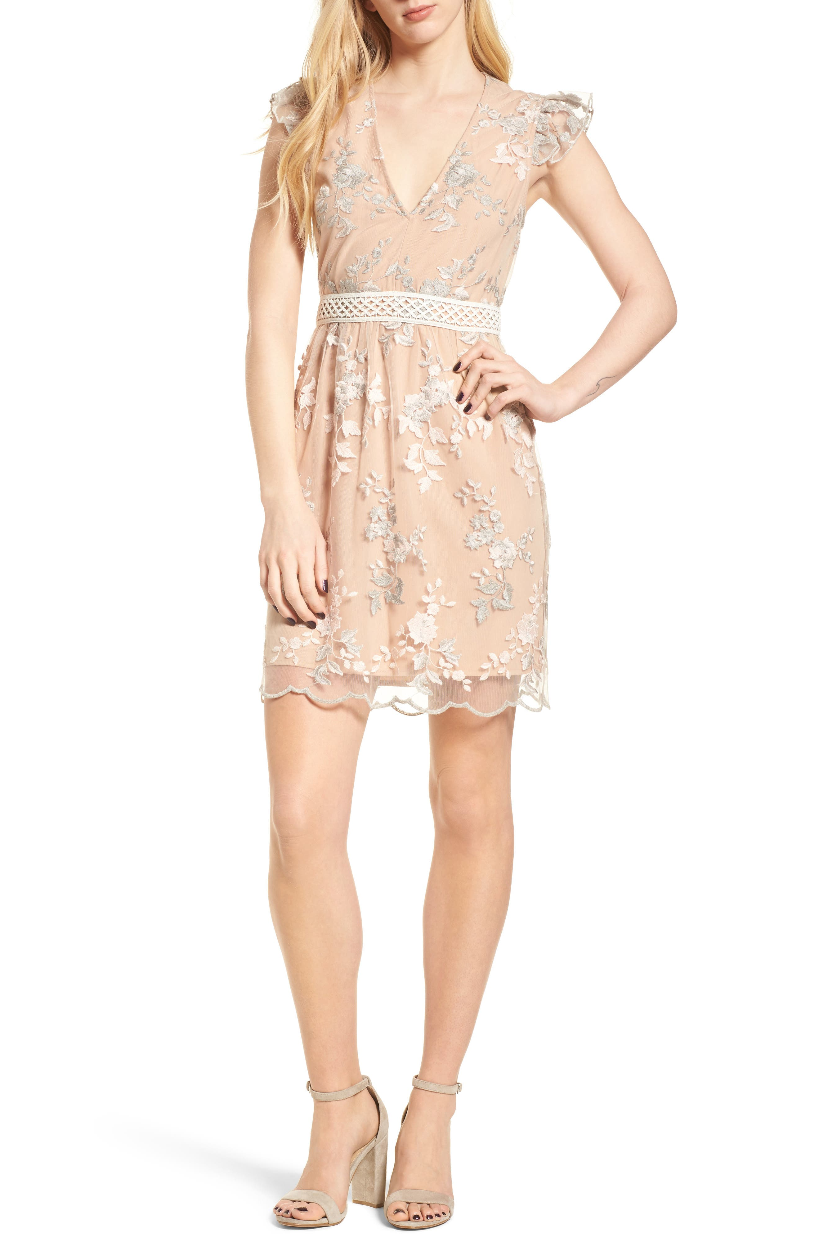 Oakfield Embroidered Minidress,                             Alternate thumbnail 5, color,