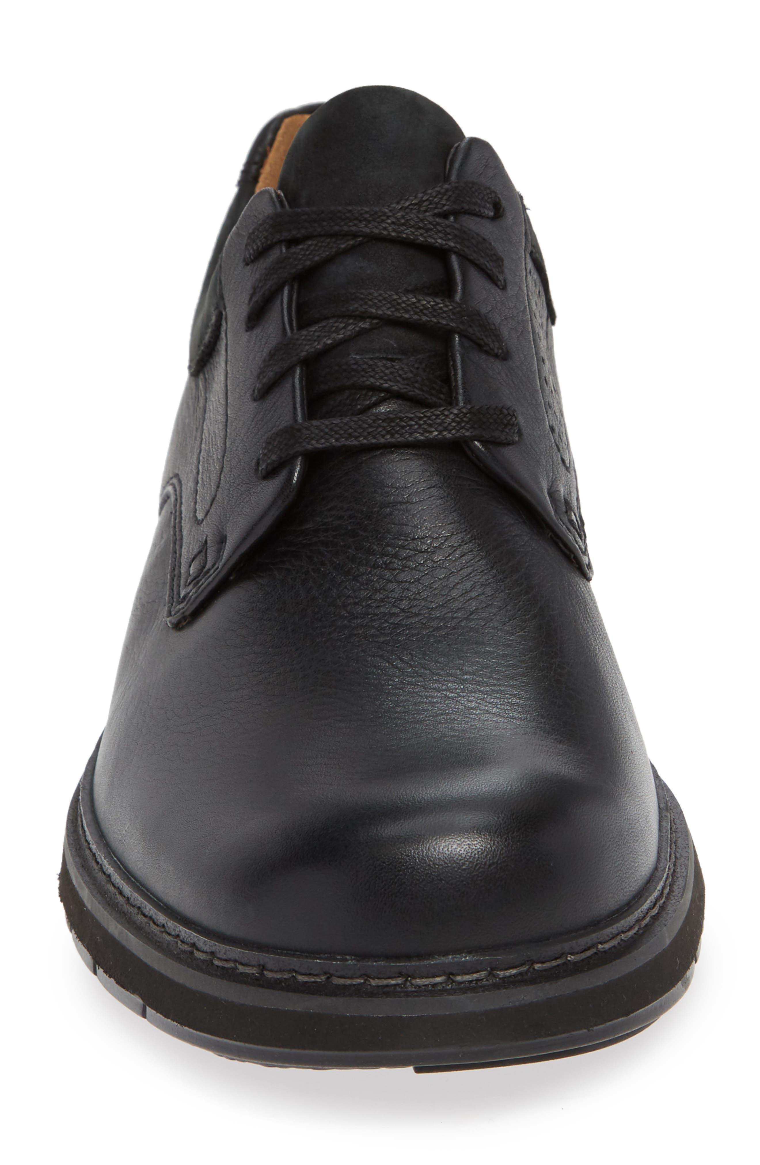 Un Ramble Lo Plain Toe Derby,                             Alternate thumbnail 4, color,                             BLACK LEATHER