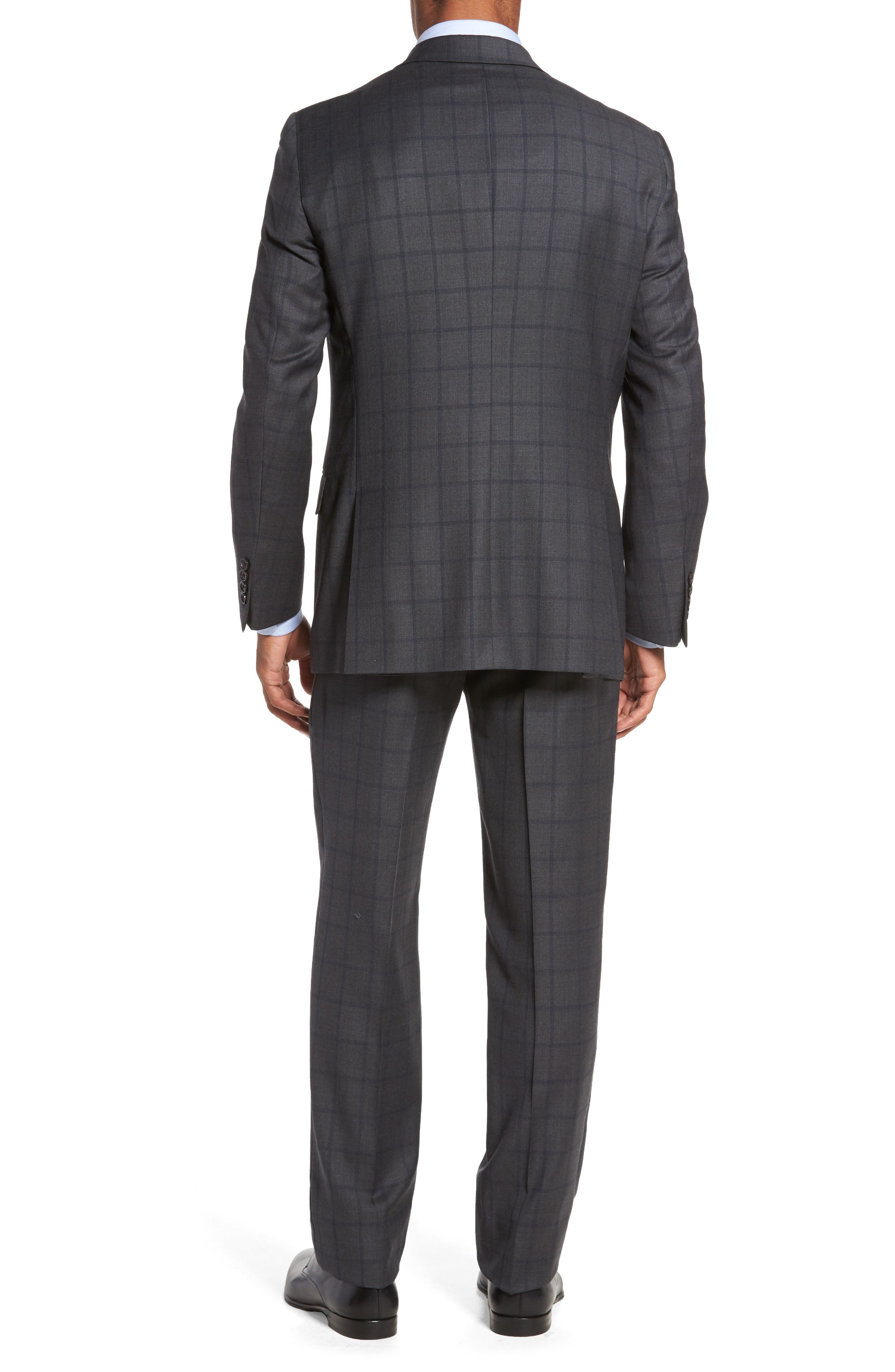 Classic Fit Windowpane Wool Suit,                             Alternate thumbnail 2, color,                             344