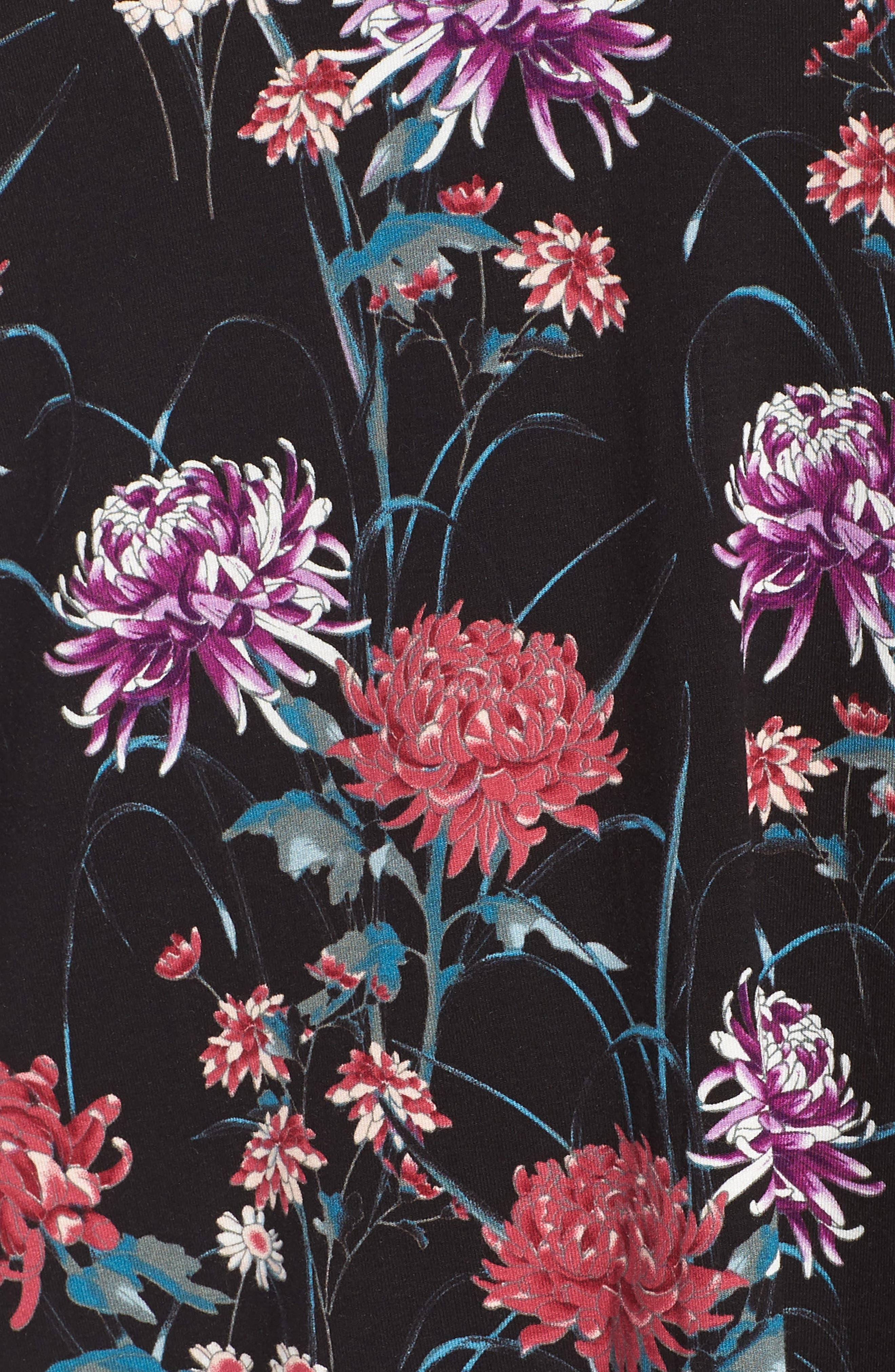 DANIEL RAINN,                             Lace Floral Print Top,                             Alternate thumbnail 5, color,                             001
