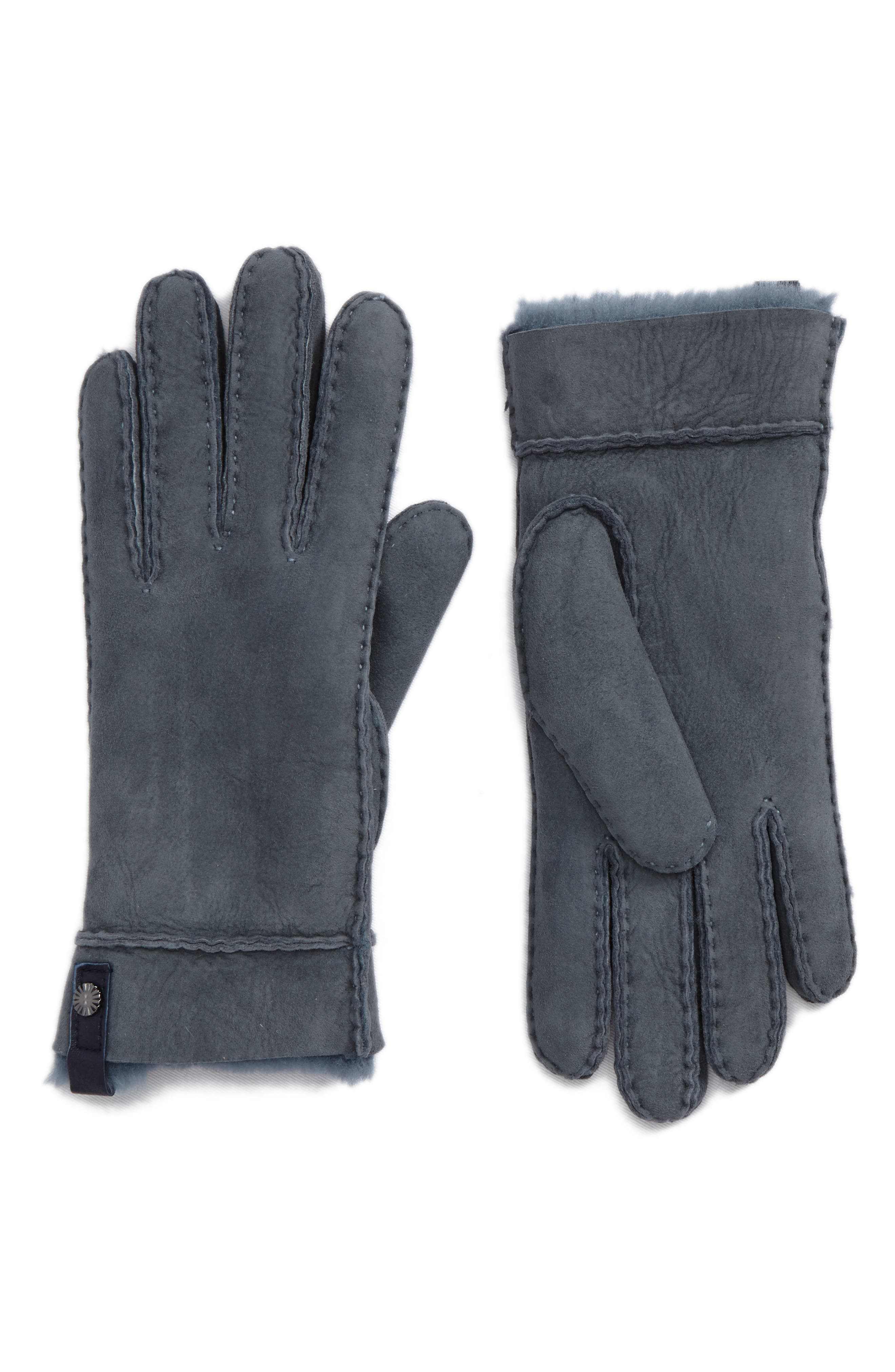 Tenney Genuine Shearling Gloves,                             Main thumbnail 3, color,