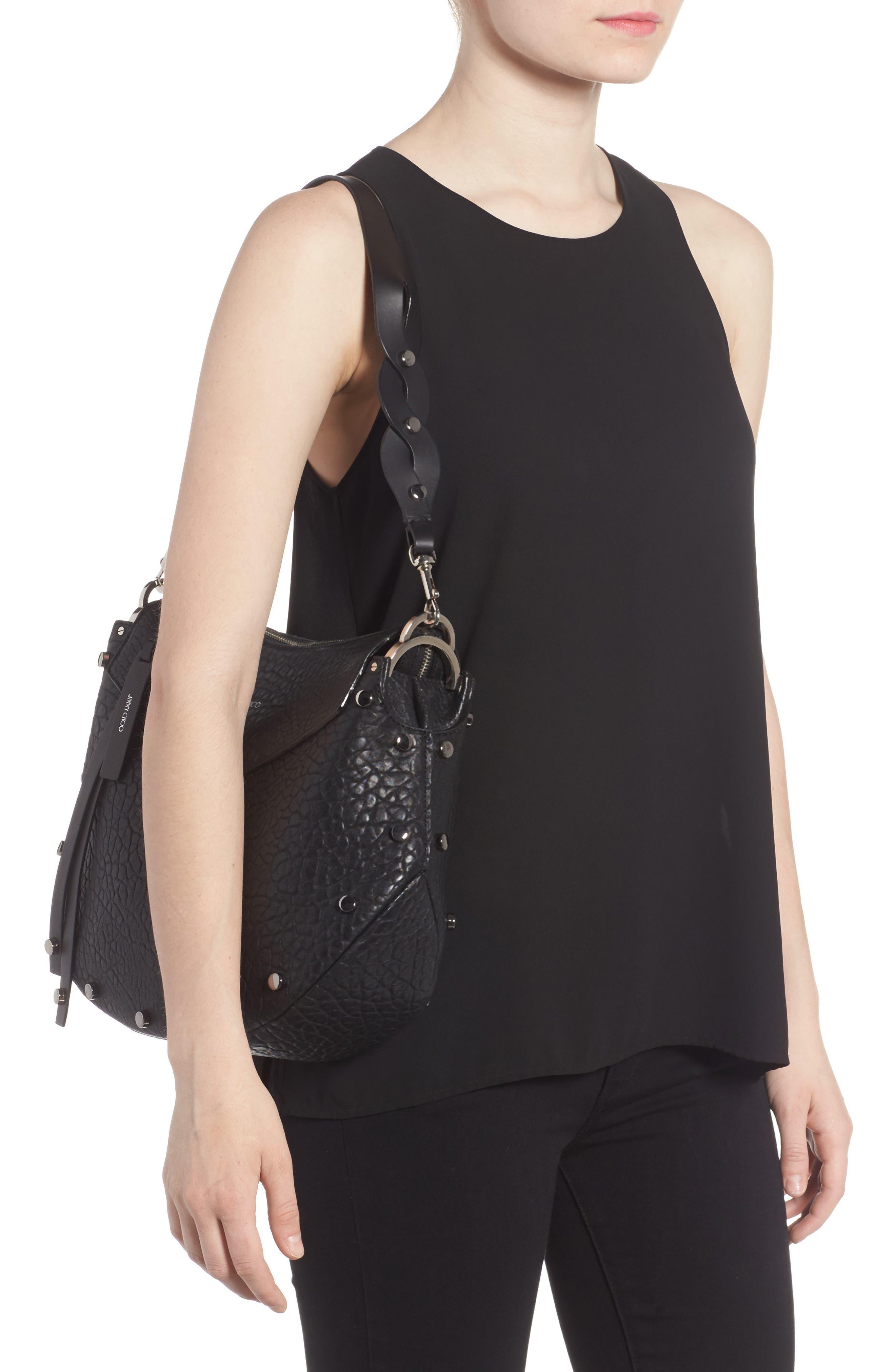 Artie Studded Leather Hobo Bag,                             Alternate thumbnail 2, color,                             001