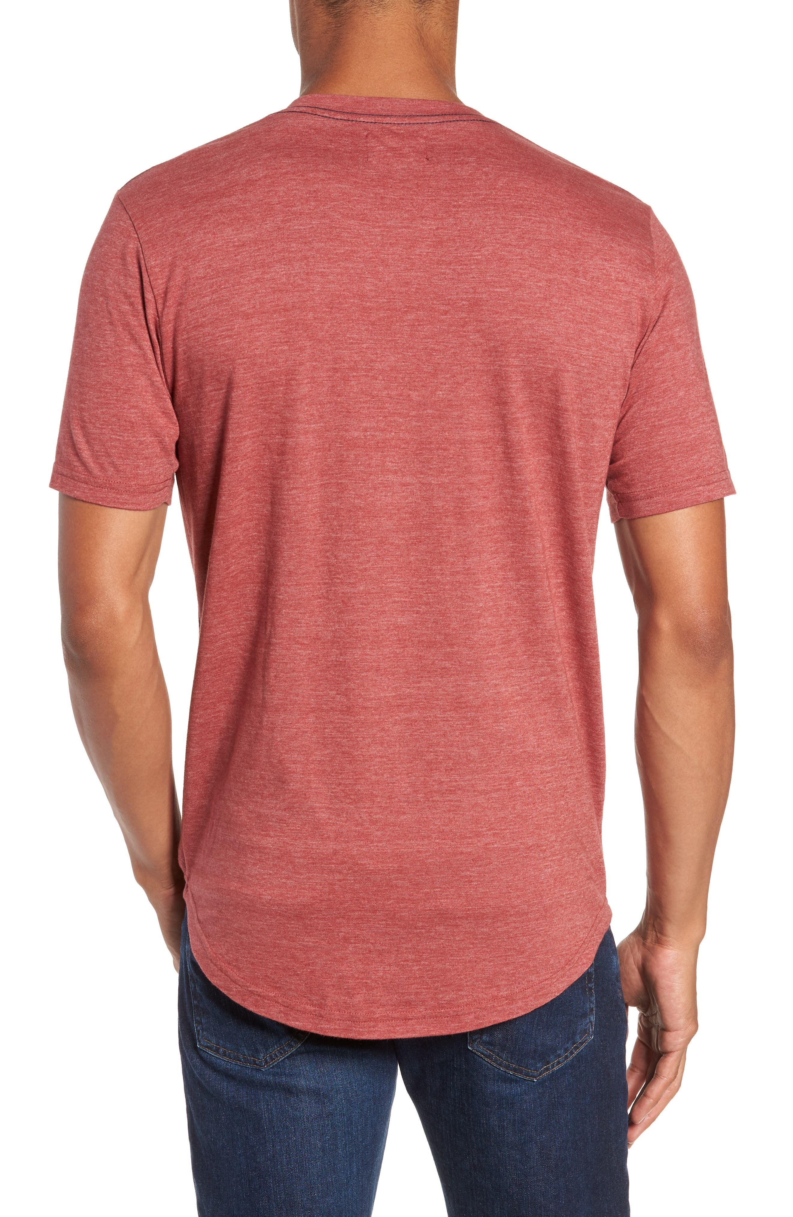 Scallop Triblend V-Neck T-Shirt,                             Alternate thumbnail 36, color,