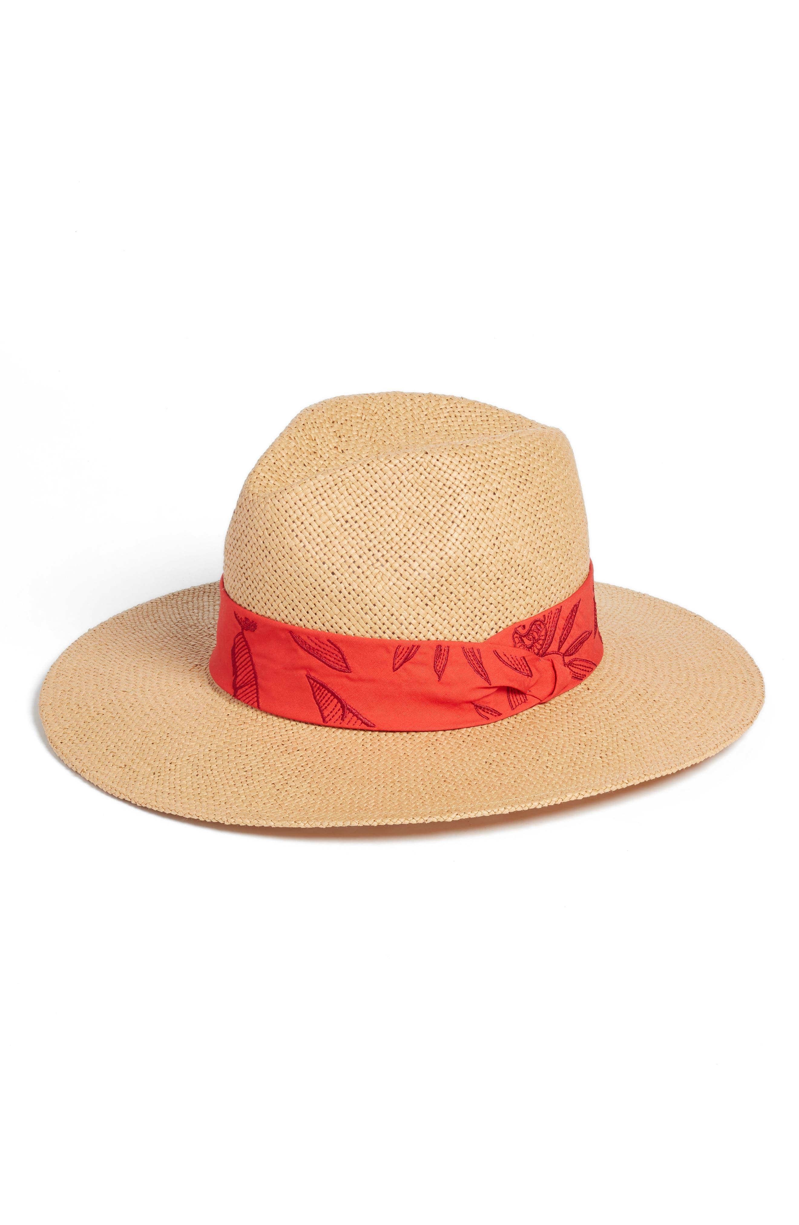 Modern Pop Straw Panama Hat,                             Main thumbnail 1, color,                             NATURAL COMBO
