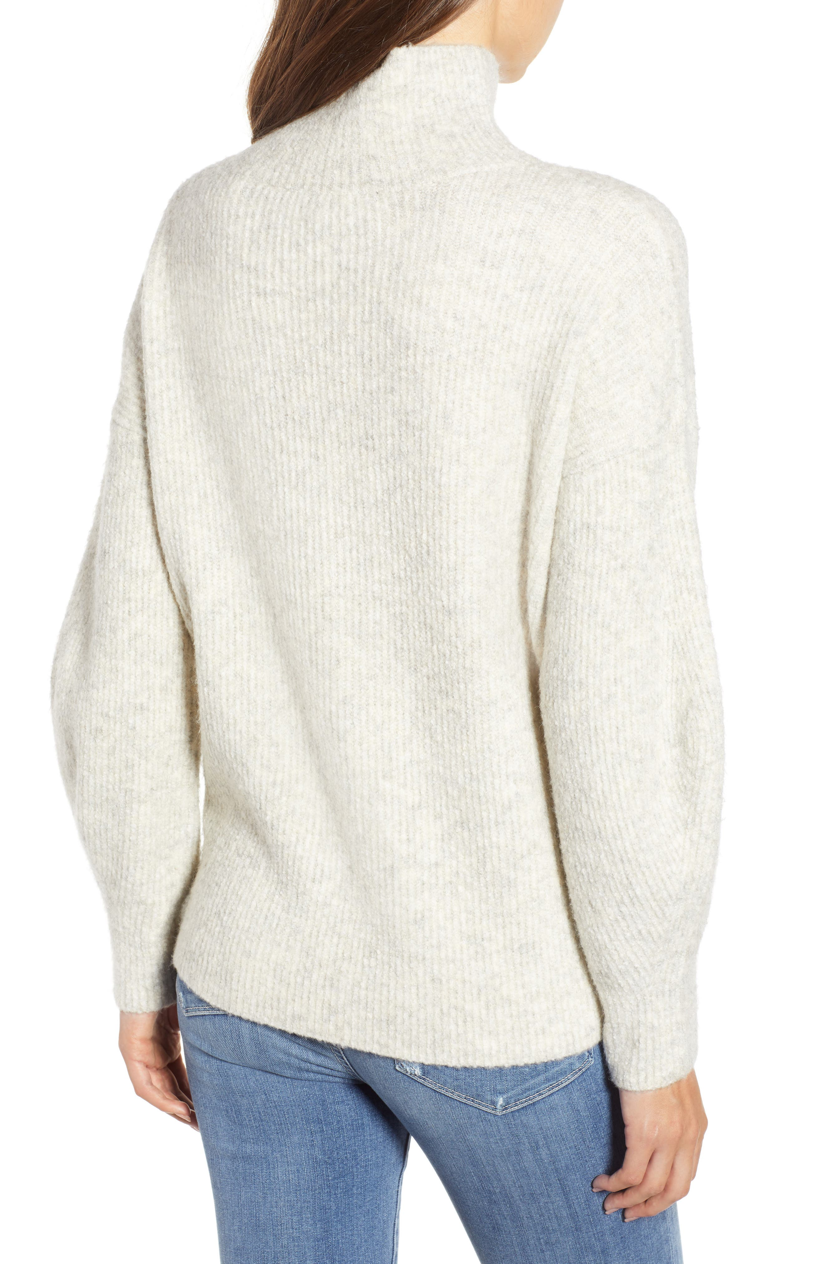 Urban Flossy Cowl Neck Sweater,                             Alternate thumbnail 2, color,                             OATMEAL