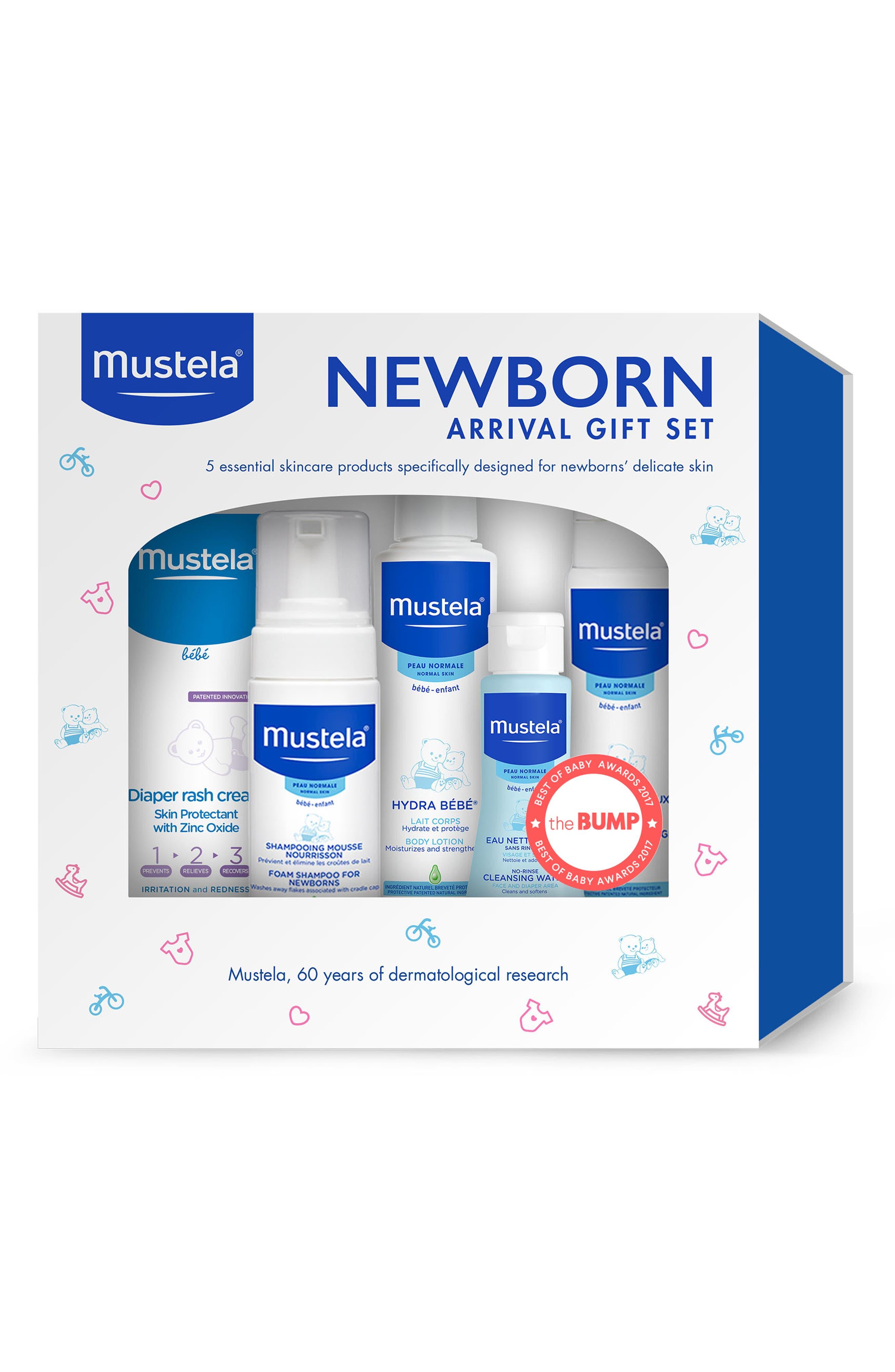 Newborn Arrival Gift Set,                             Alternate thumbnail 2, color,                             WHITE