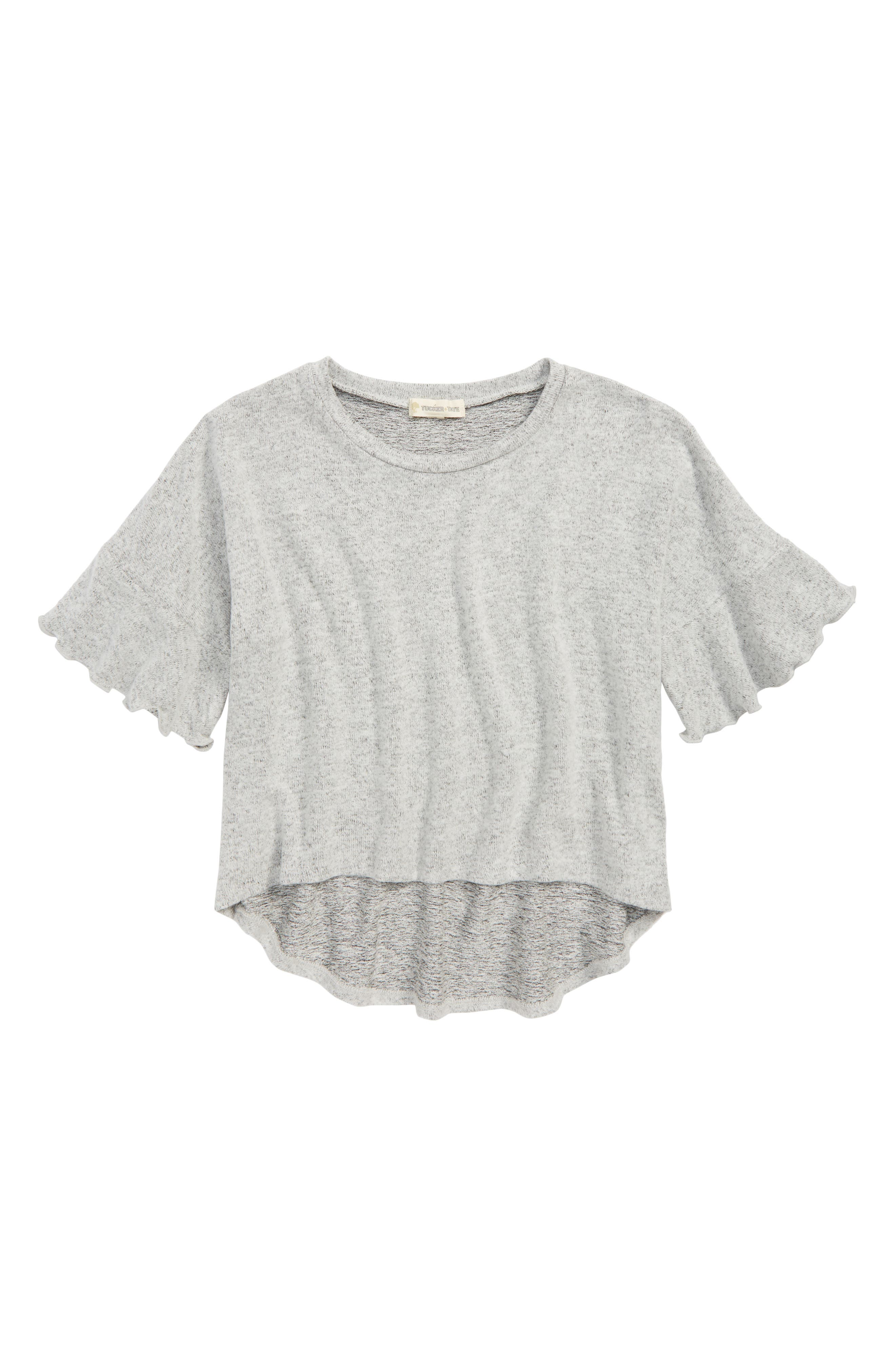 Ruffle Sleeve Knit Top,                         Main,                         color, 030