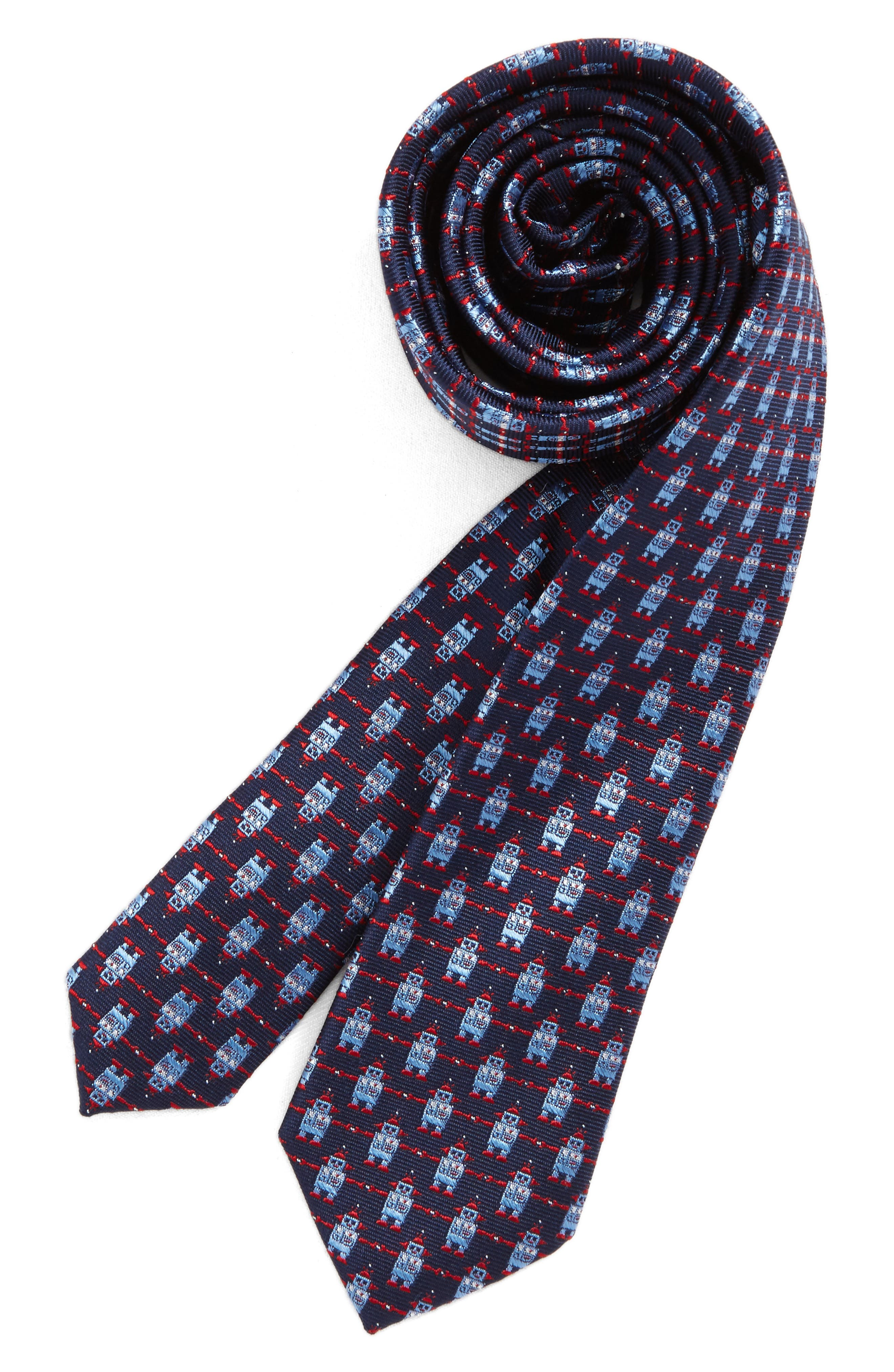 Patterned Silk Tie,                             Main thumbnail 7, color,