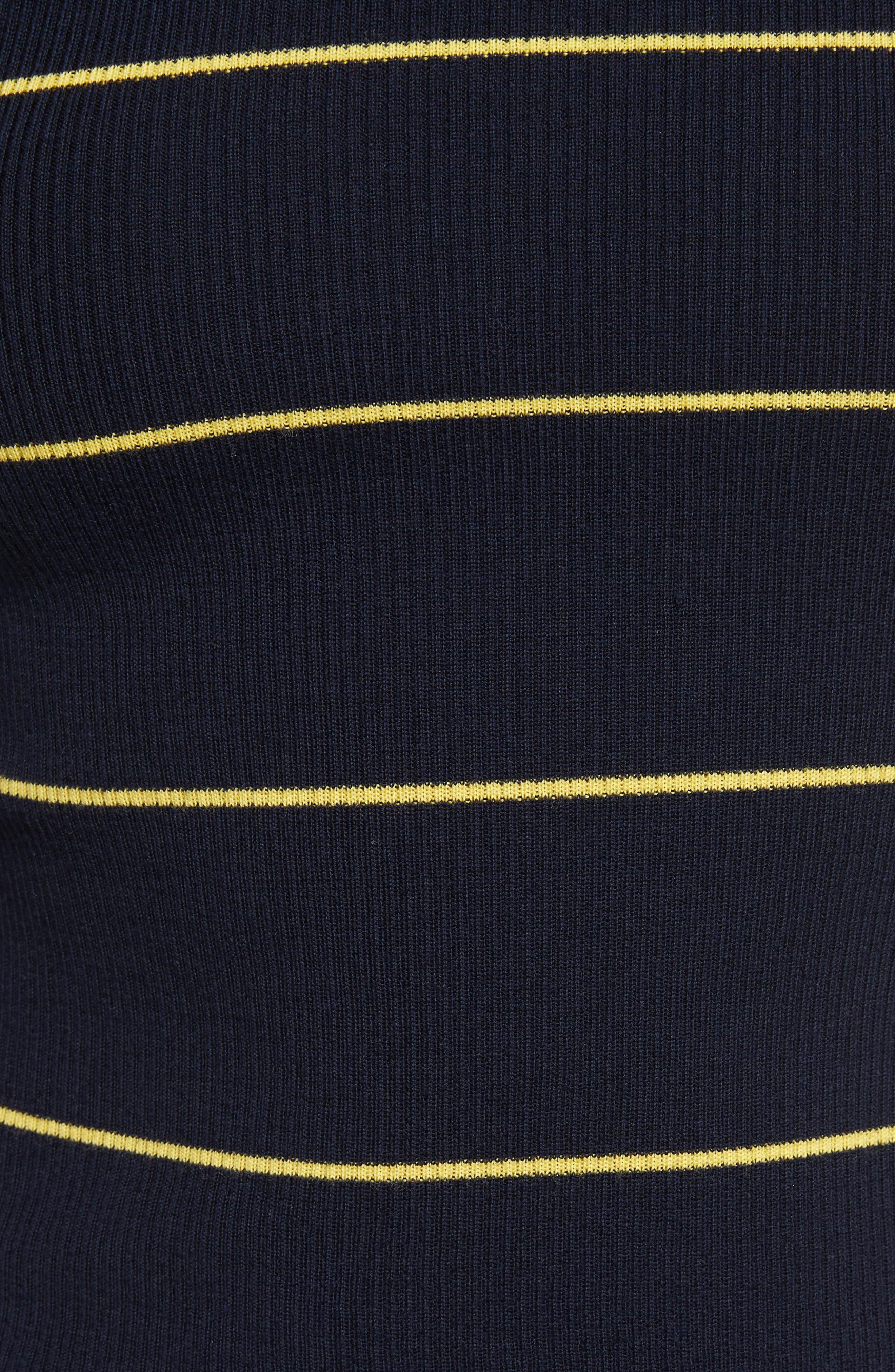 Stripe Crop Turtleneck,                             Alternate thumbnail 9, color,