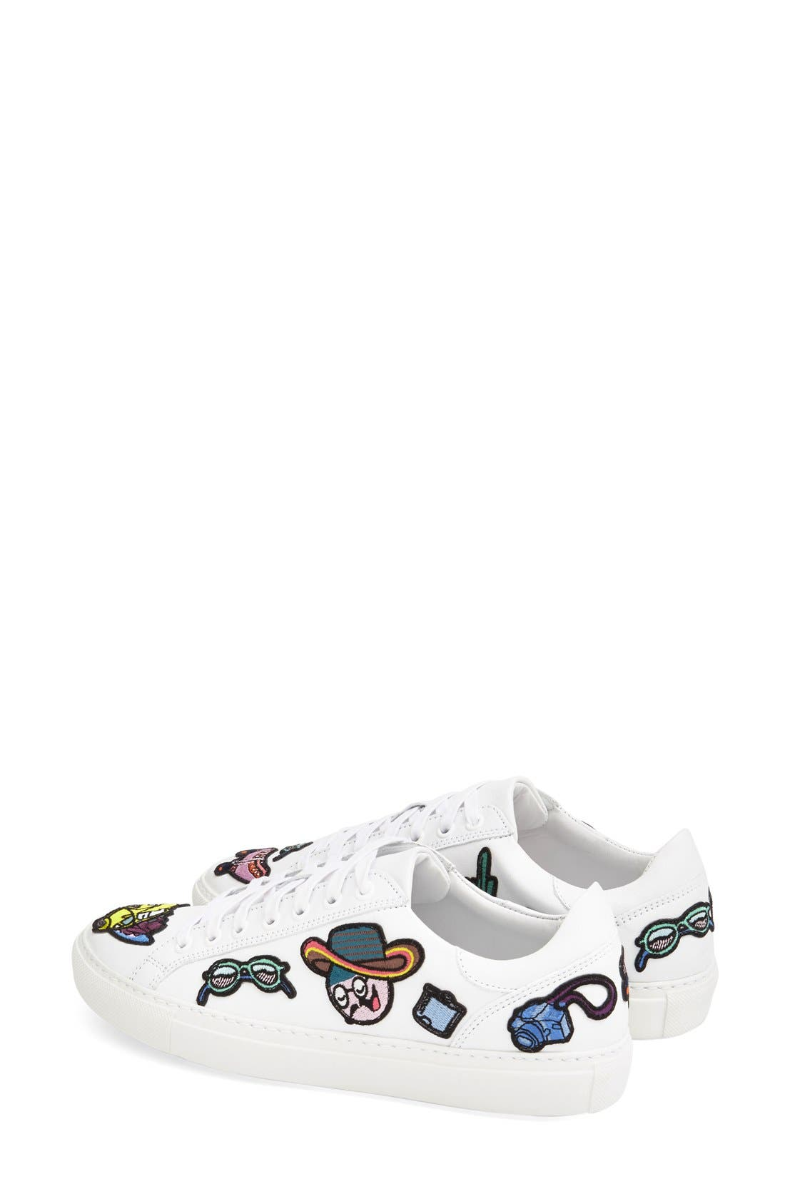 MIRA MIKATI,                             'Patches' Low Top Sneaker,                             Alternate thumbnail 3, color,                             111