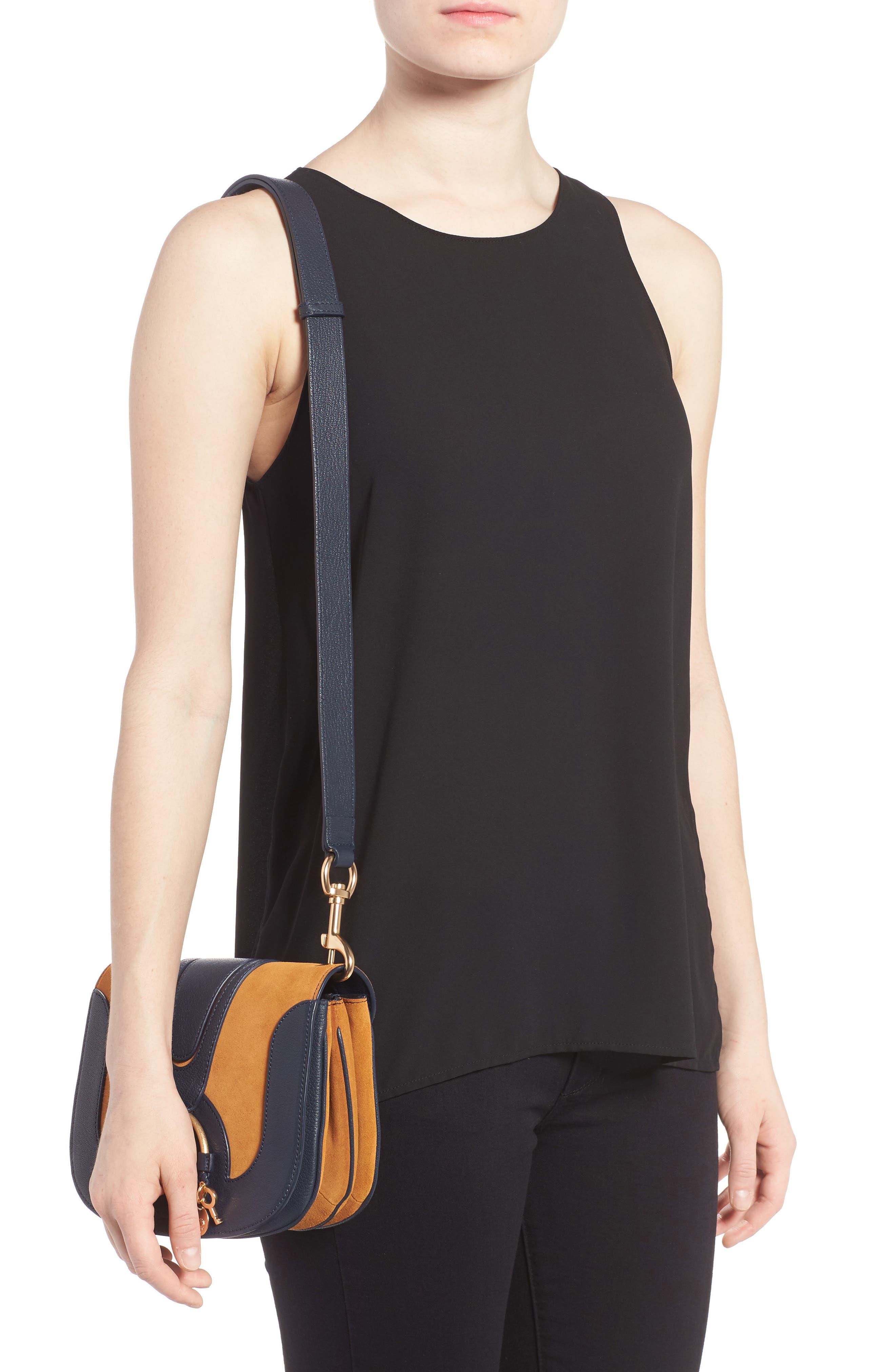 Hana Small Leather Crossbody Bag,                             Alternate thumbnail 13, color,