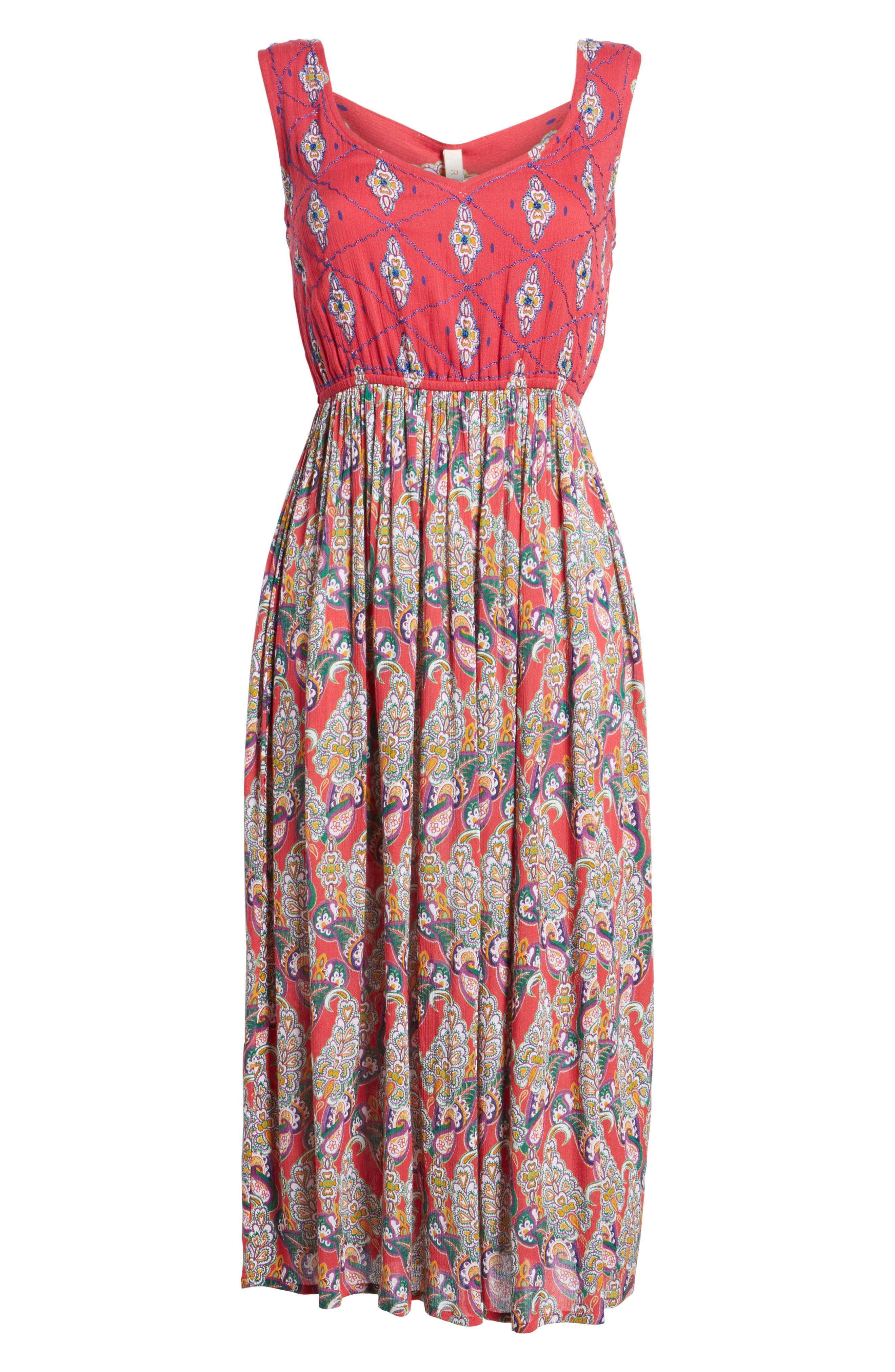 Alice Cut Out Back Midi Dress,                             Alternate thumbnail 6, color,                             645
