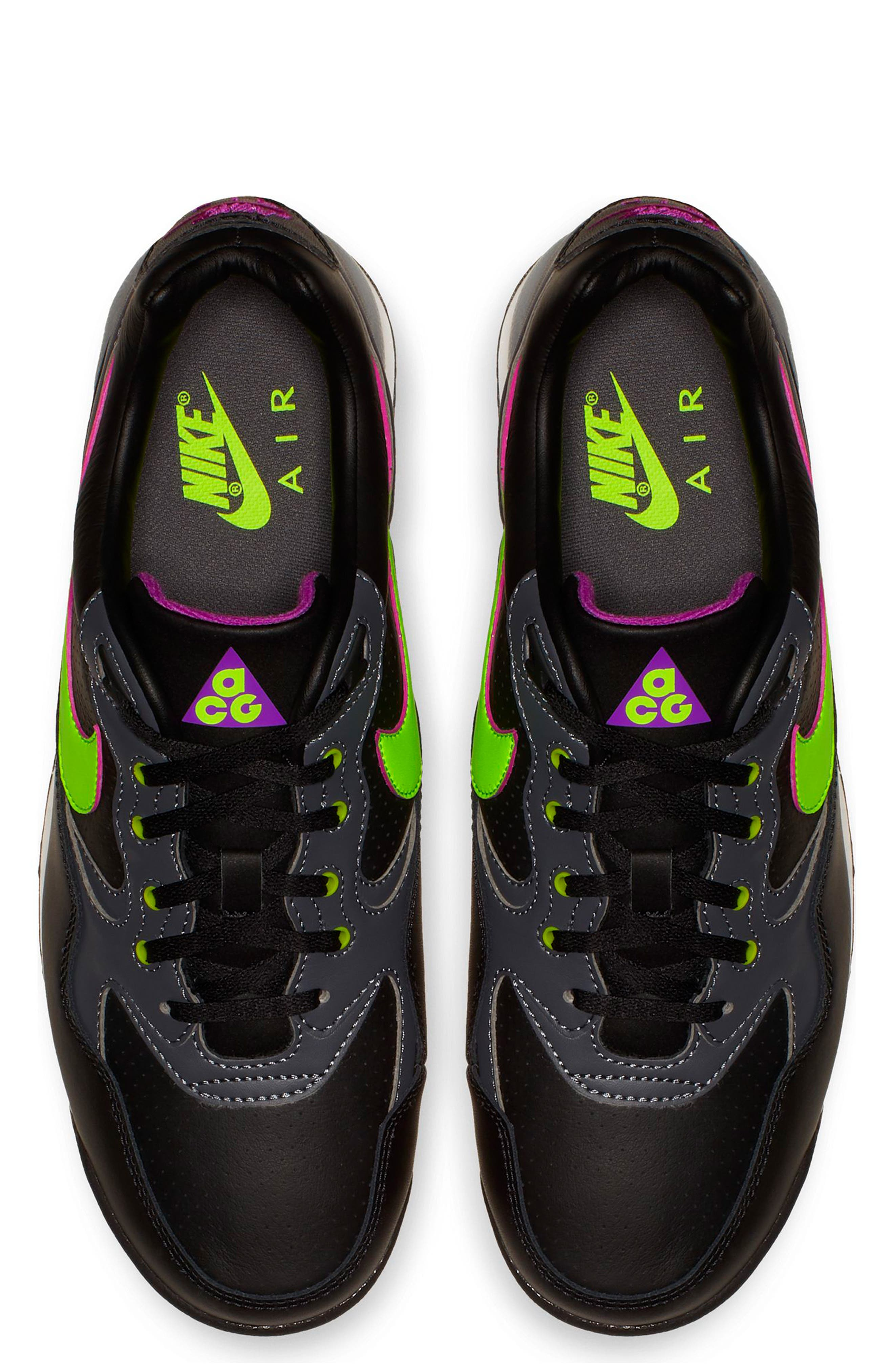 NIKE,                             Air Wildwood ACG Sneaker,                             Alternate thumbnail 4, color,                             BLACK/ ELECTRIC GREEN/ VIOLET