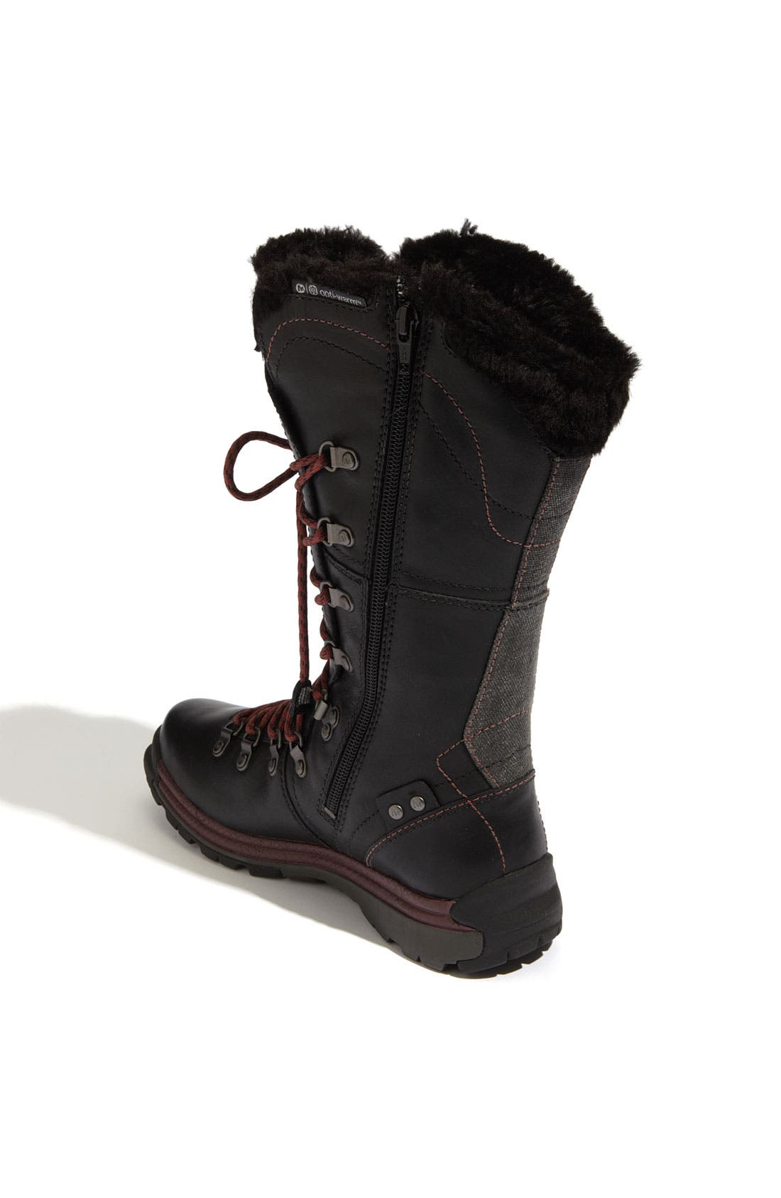 MERRELL,                             'Natalya' Waterproof Boot,                             Alternate thumbnail 4, color,                             001