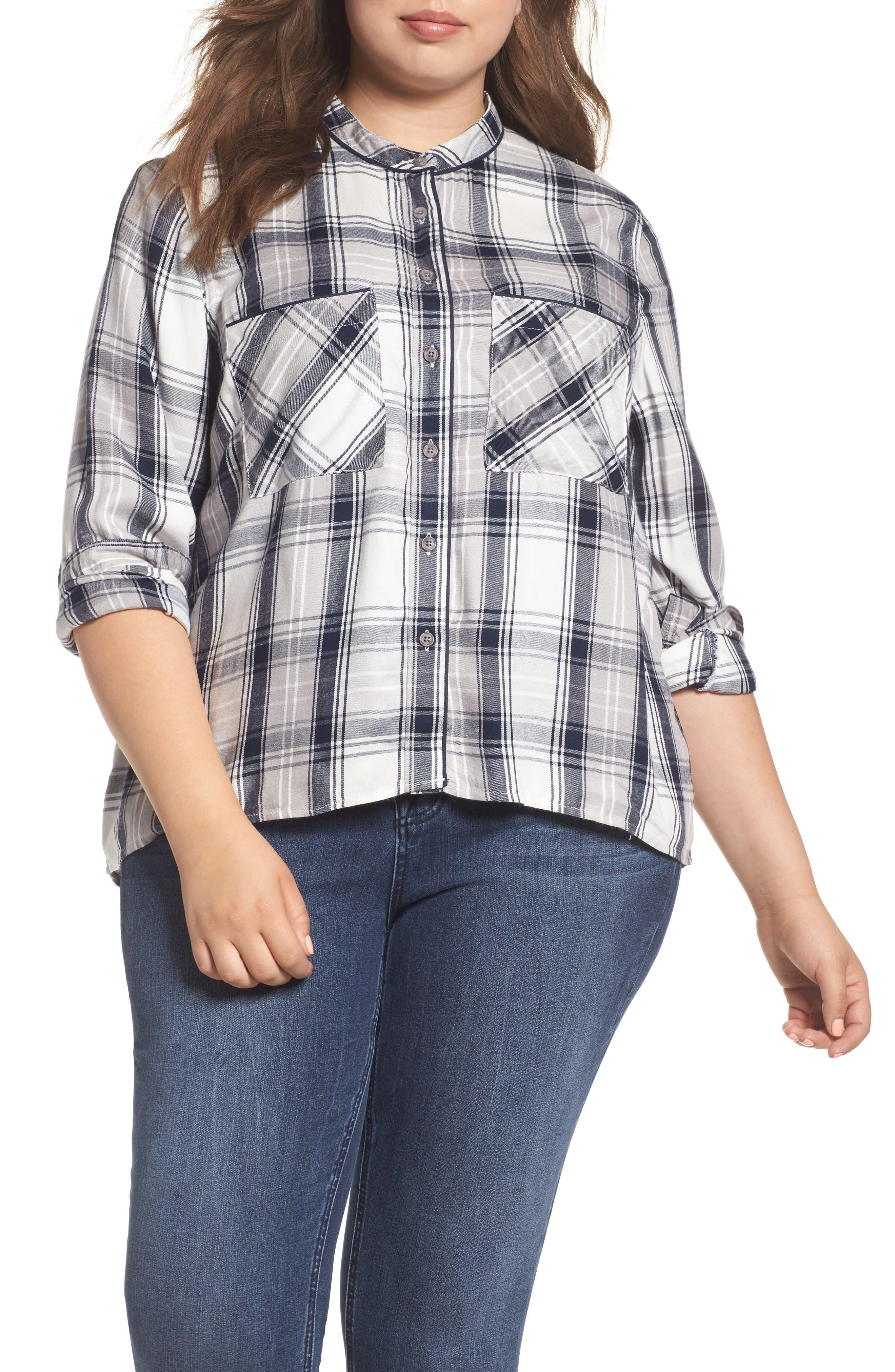 Plaid Shirt,                         Main,                         color, 107