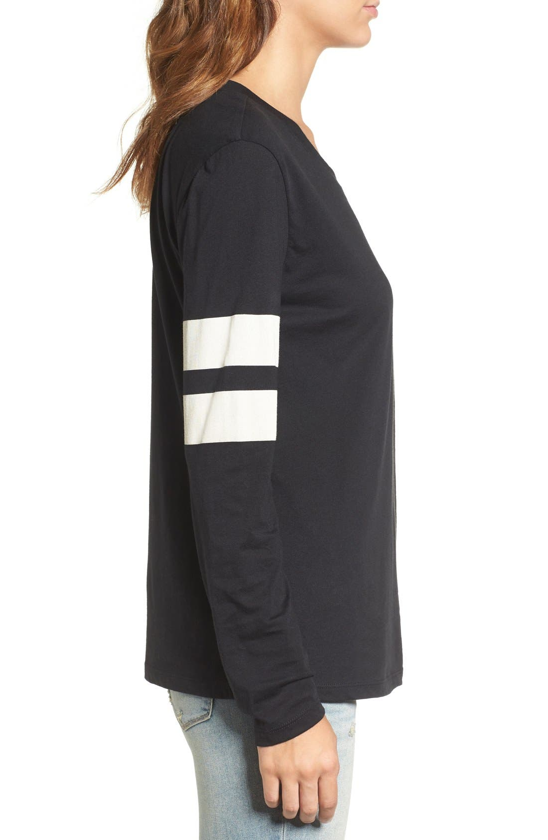 Varsity Stripe Cotton Tee,                             Alternate thumbnail 127, color,
