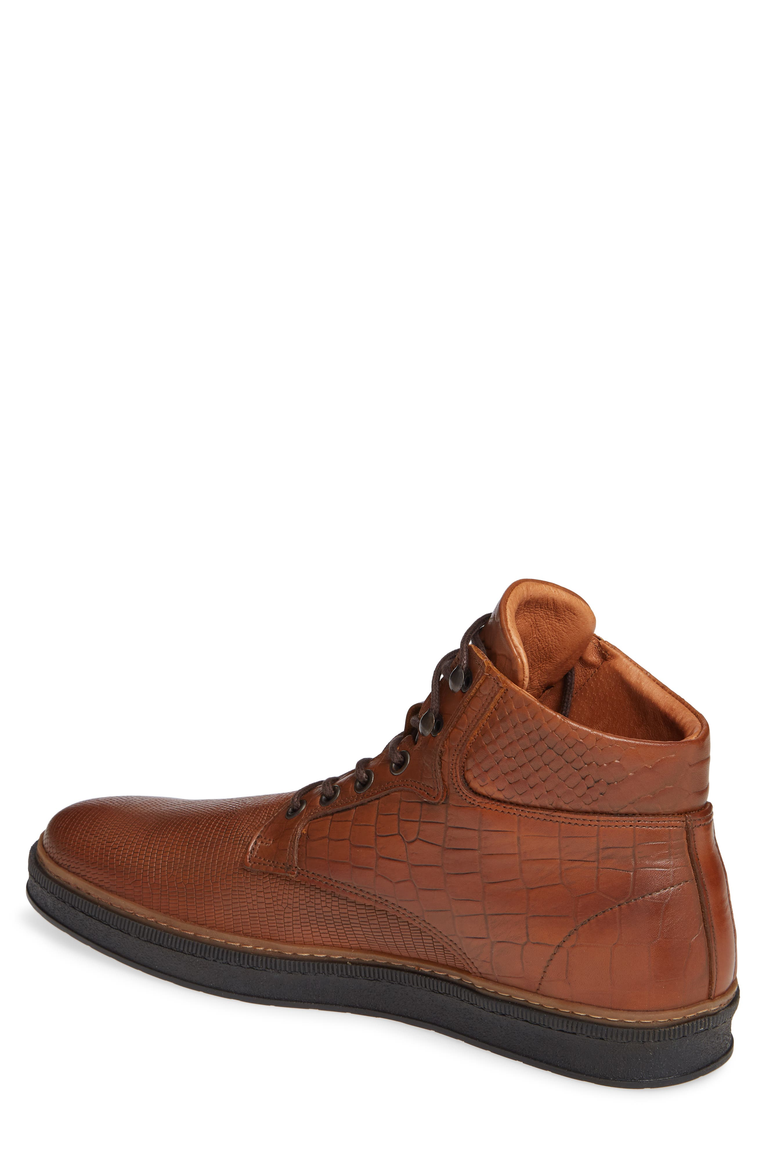 Lissabon Sneaker,                             Alternate thumbnail 2, color,                             DARK COGNAC