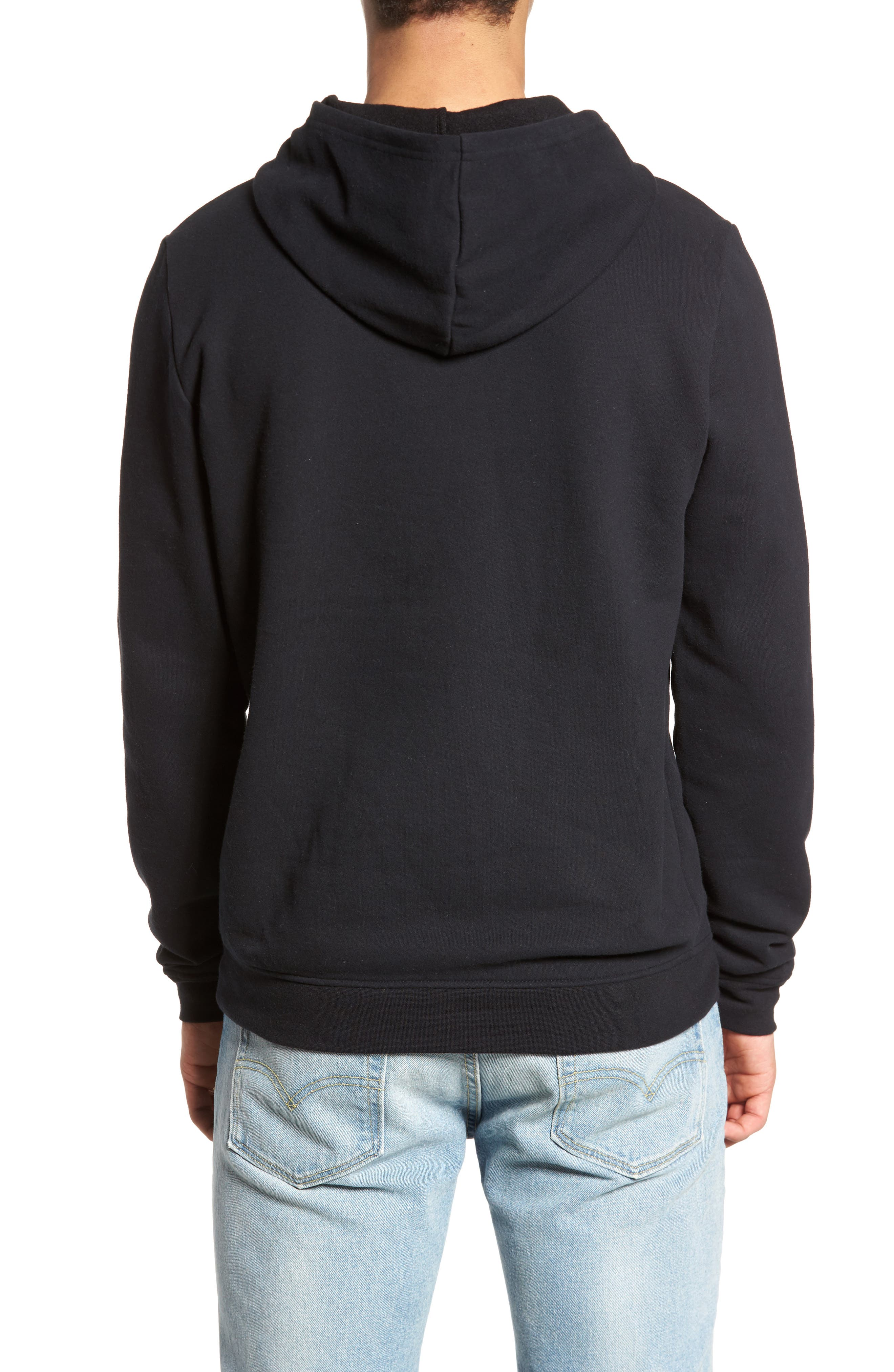 Fleece Hoodie,                             Alternate thumbnail 2, color,                             001