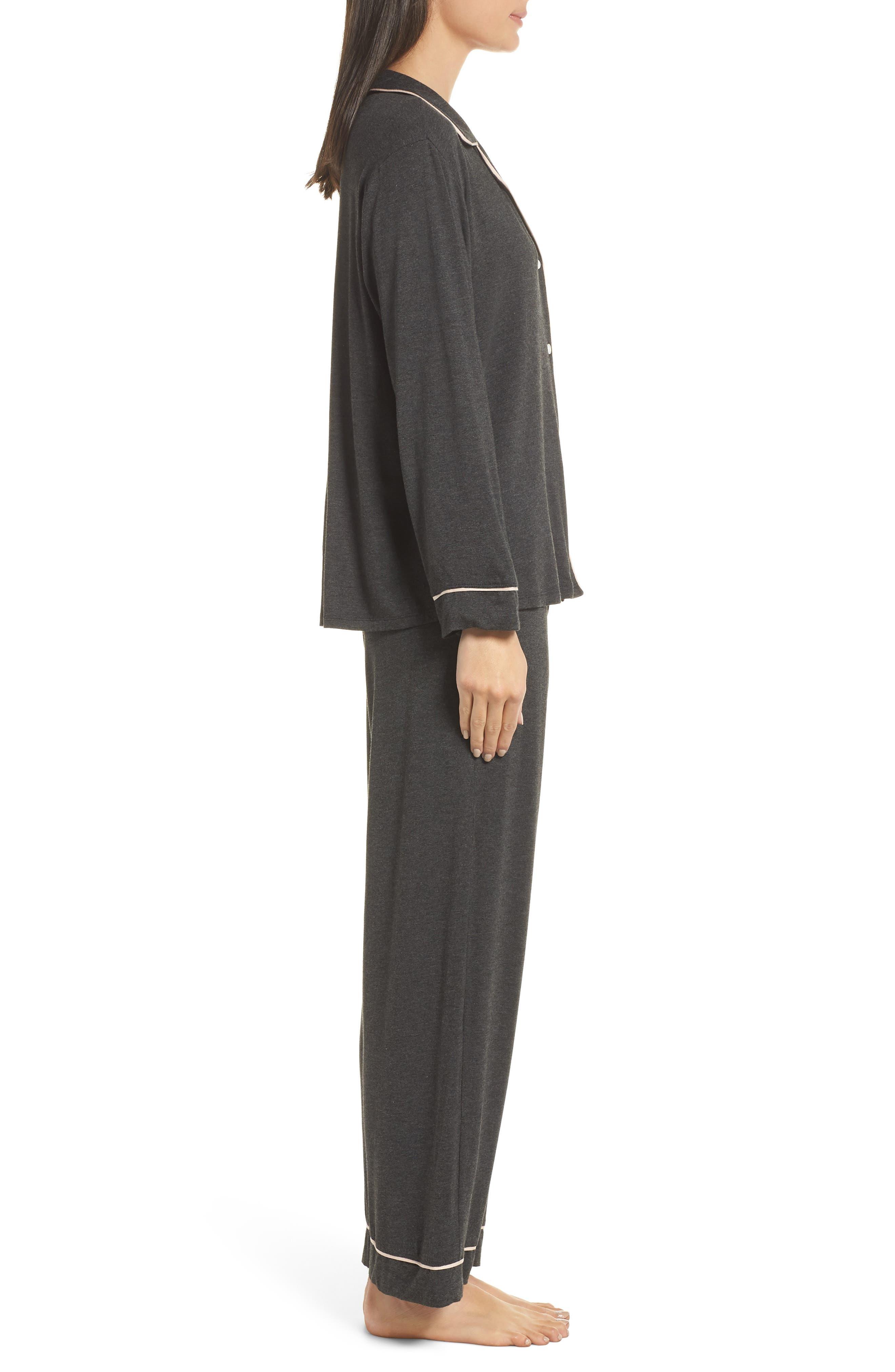Gisele Pajamas,                             Alternate thumbnail 3, color,                             CHARCOAL/ BELLINI