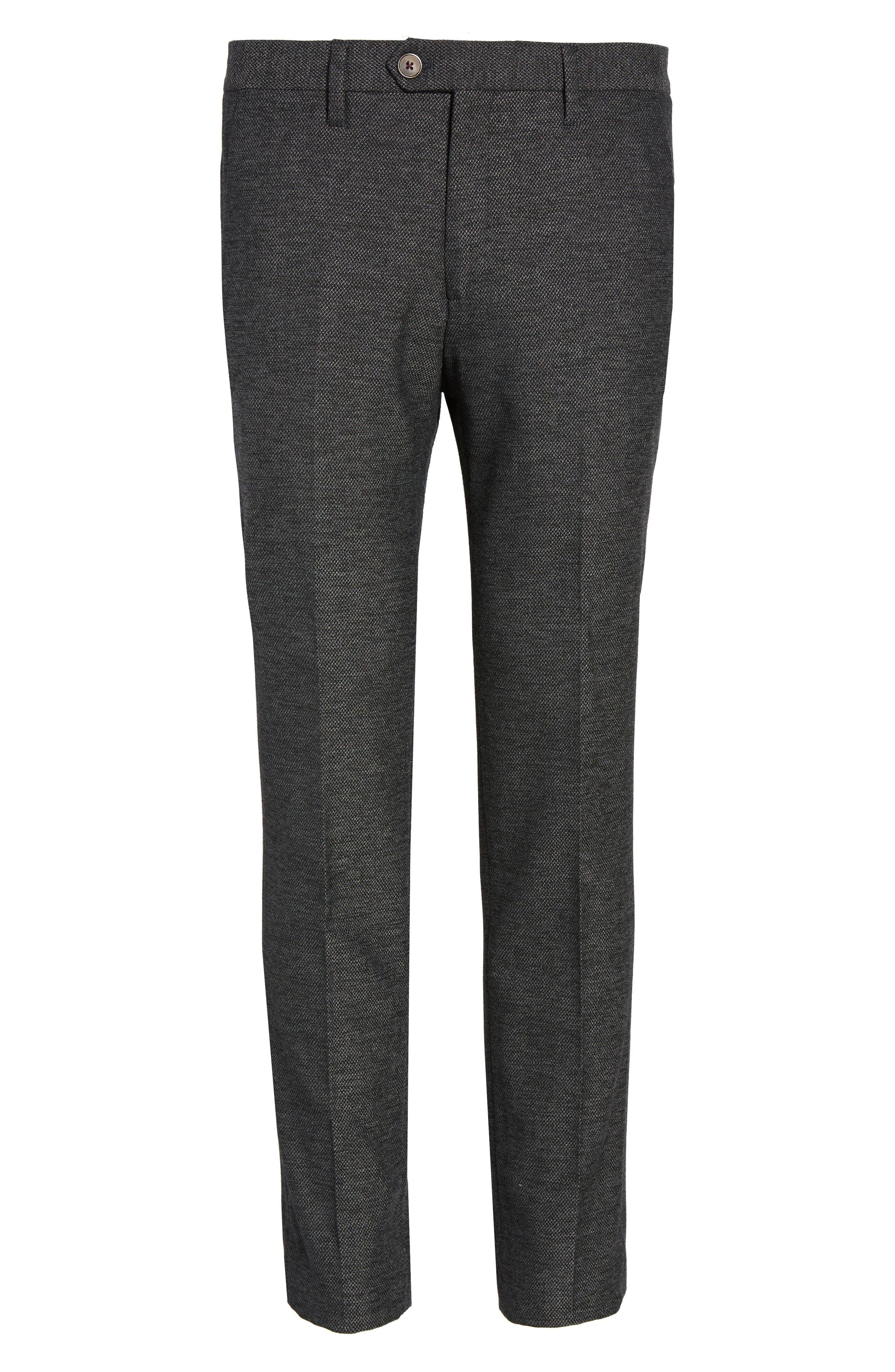 Porttro Modern Slim Fit Trousers,                             Alternate thumbnail 6, color,                             010