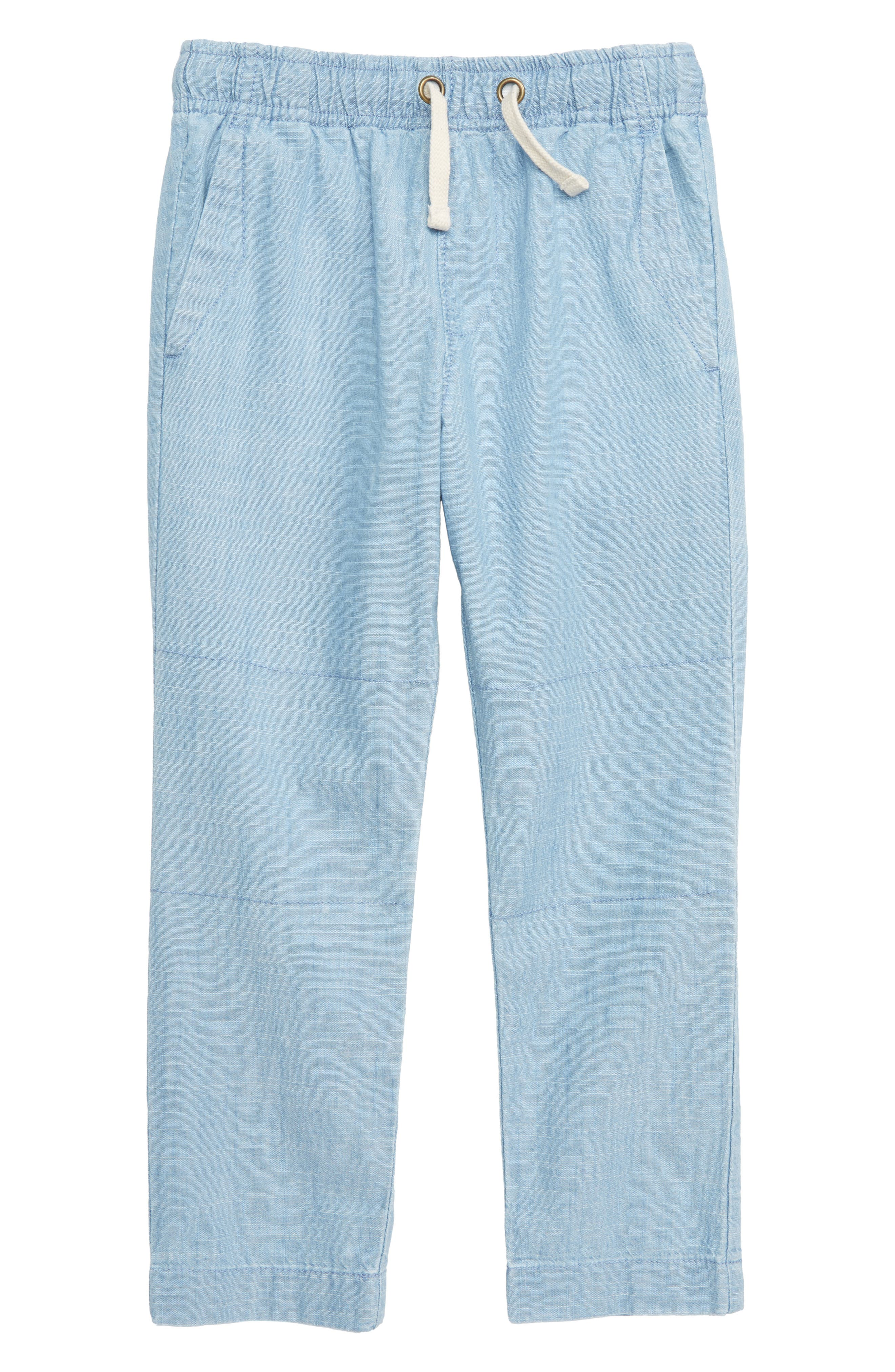 CREWCUTS BY J.CREW Pull-On Chambray Pants with Reinforced Knees, Main, color, MEDIUM CHAMBRAY WASH