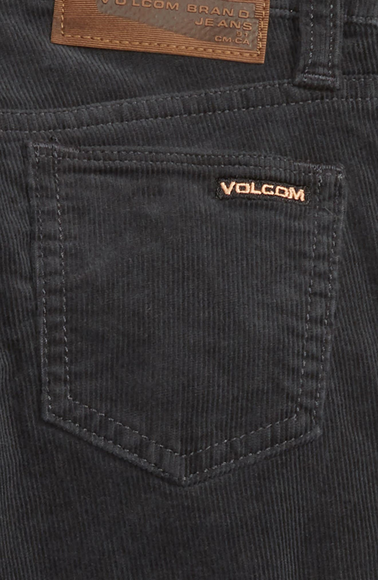 Vorta Slim Fit Corduroy Jeans,                             Alternate thumbnail 3, color,                             STEALTH