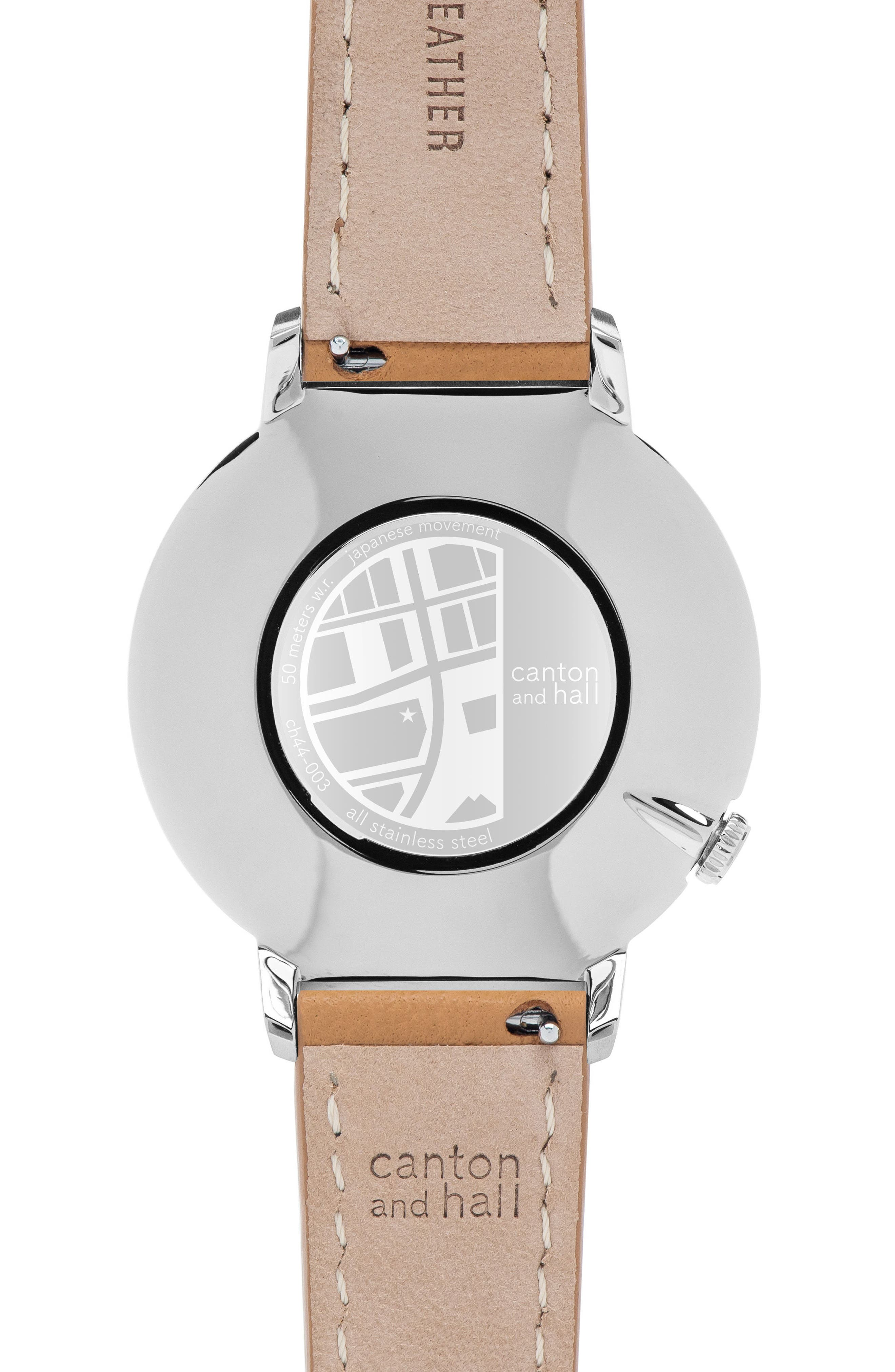Leather Strap Watch, 44mm,                             Alternate thumbnail 2, color,                             200