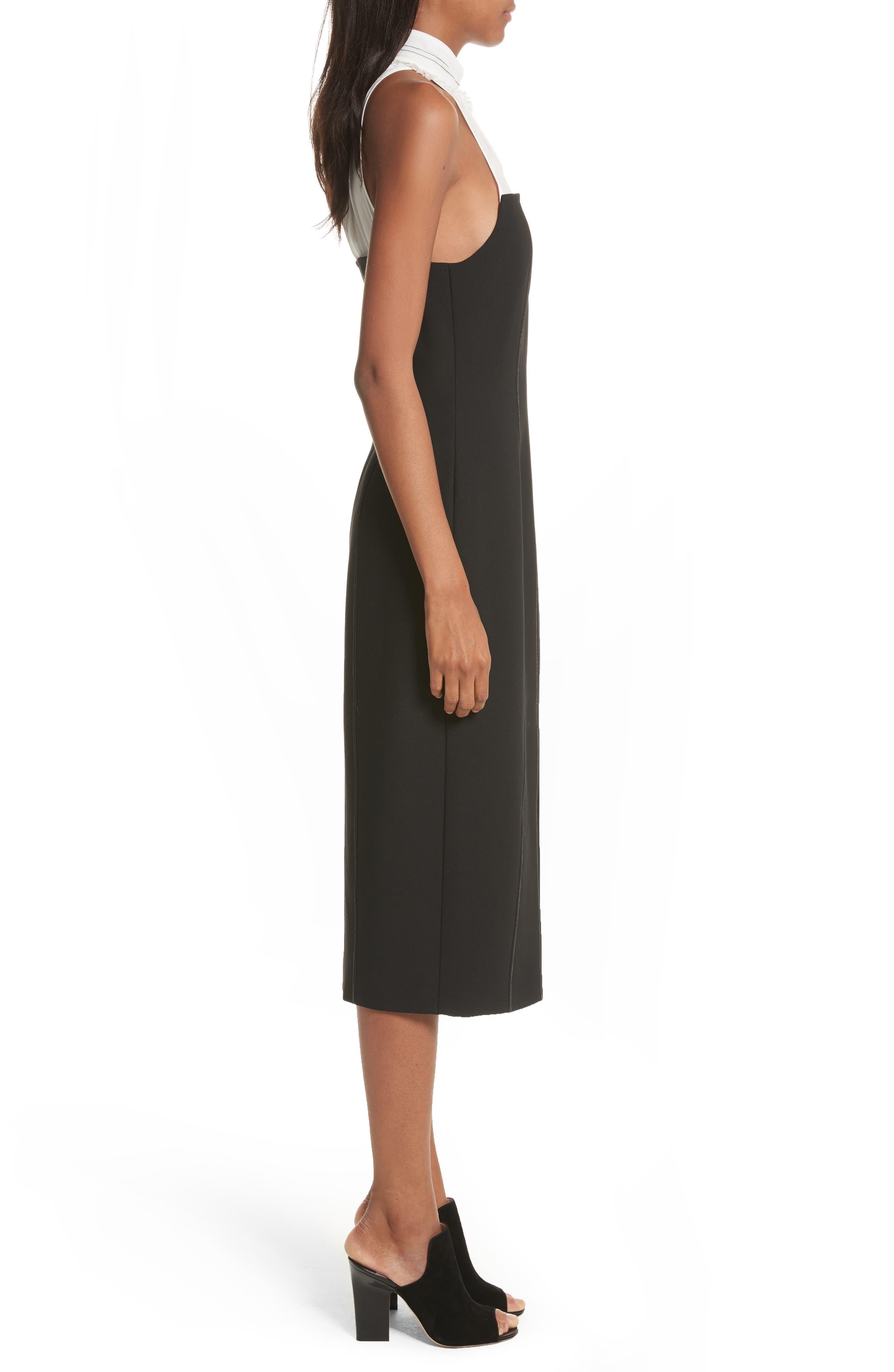 Noemi Halter Neck Dress,                             Alternate thumbnail 3, color,                             015