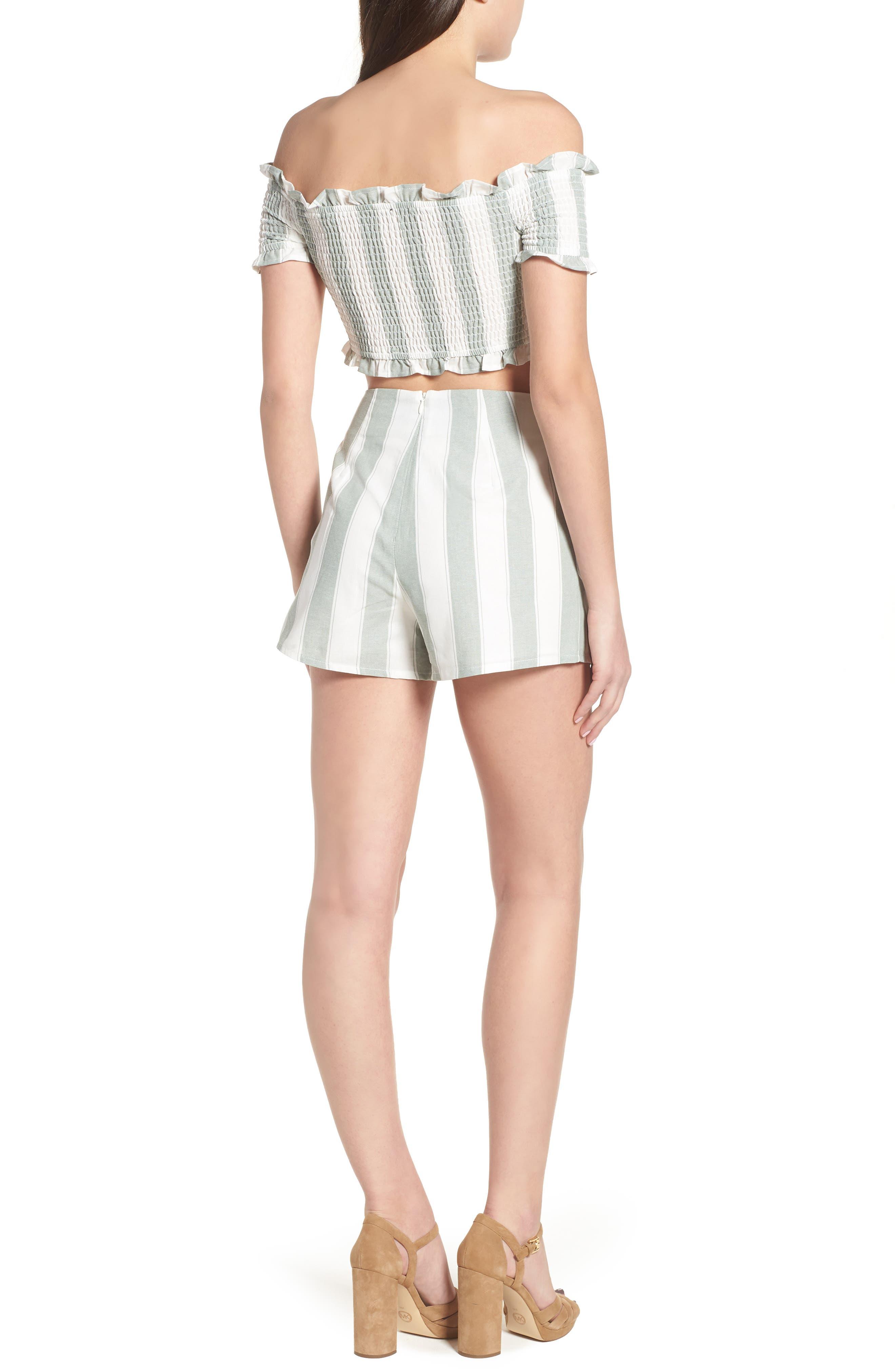Poetic Stripe Shorts,                             Alternate thumbnail 8, color,