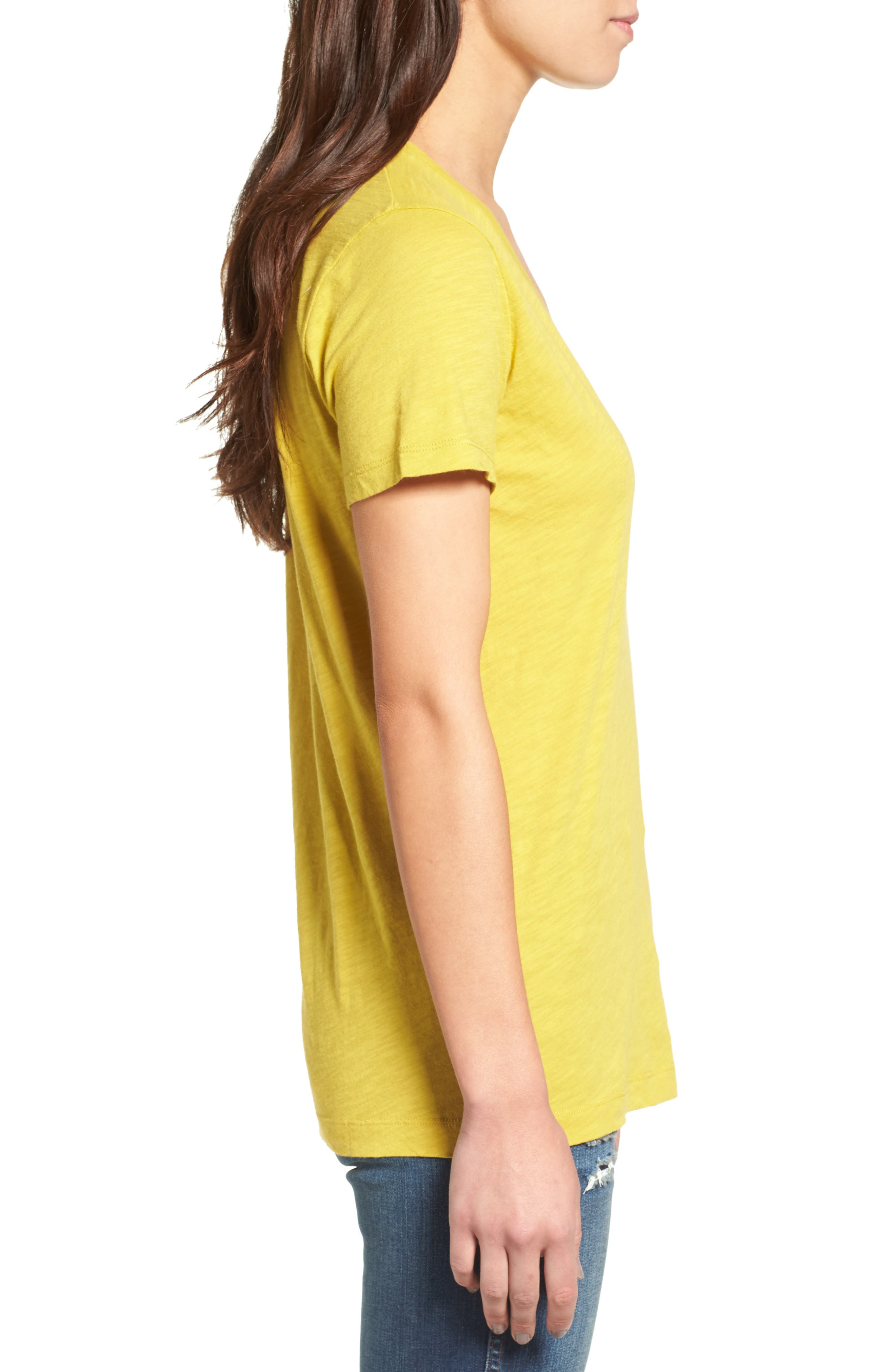 Whisper Cotton V-Neck Pocket Tee,                             Alternate thumbnail 105, color,