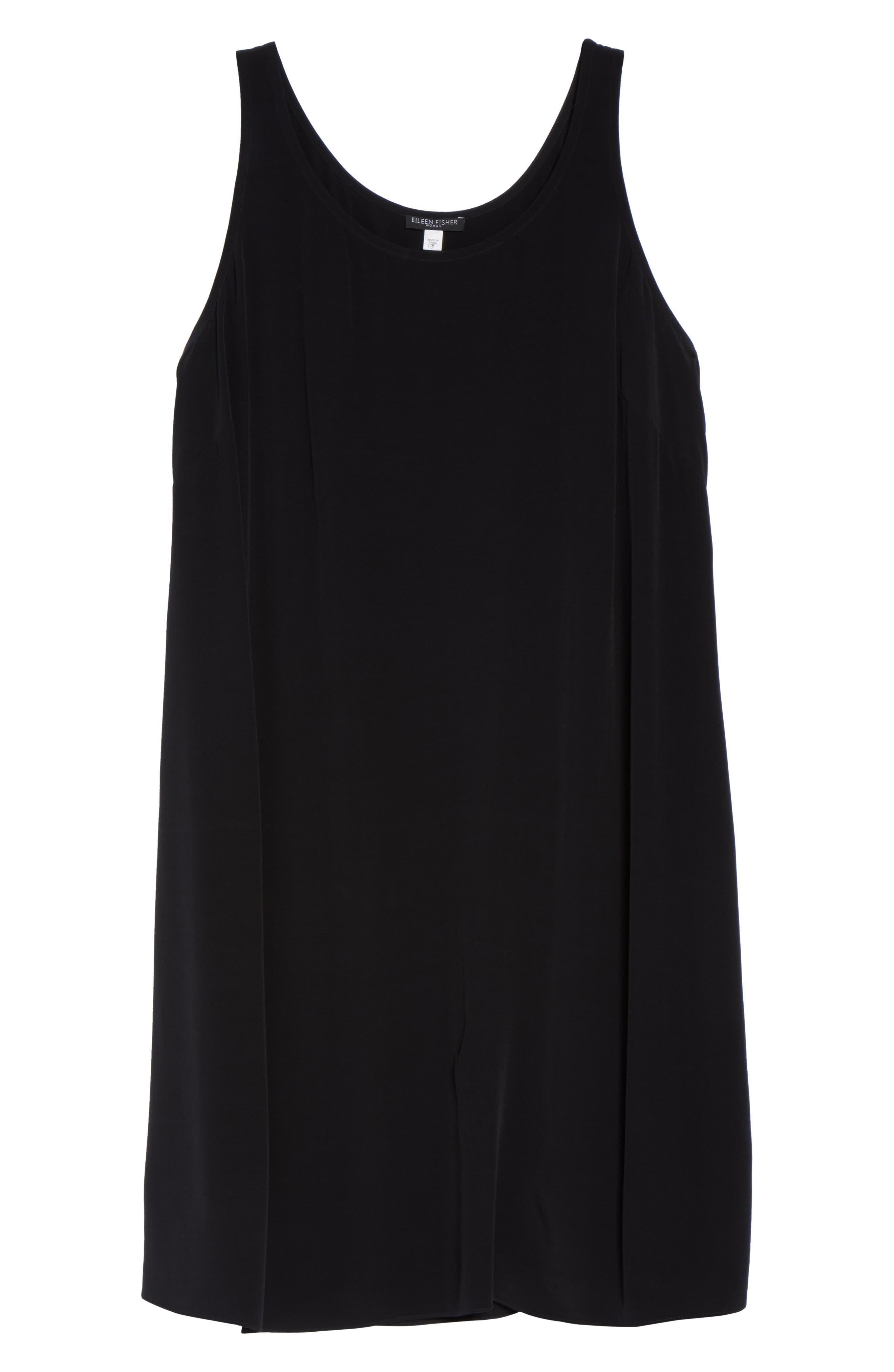 Tencel<sup>®</sup> Blend A-Line Shift Dress,                             Alternate thumbnail 6, color,                             001