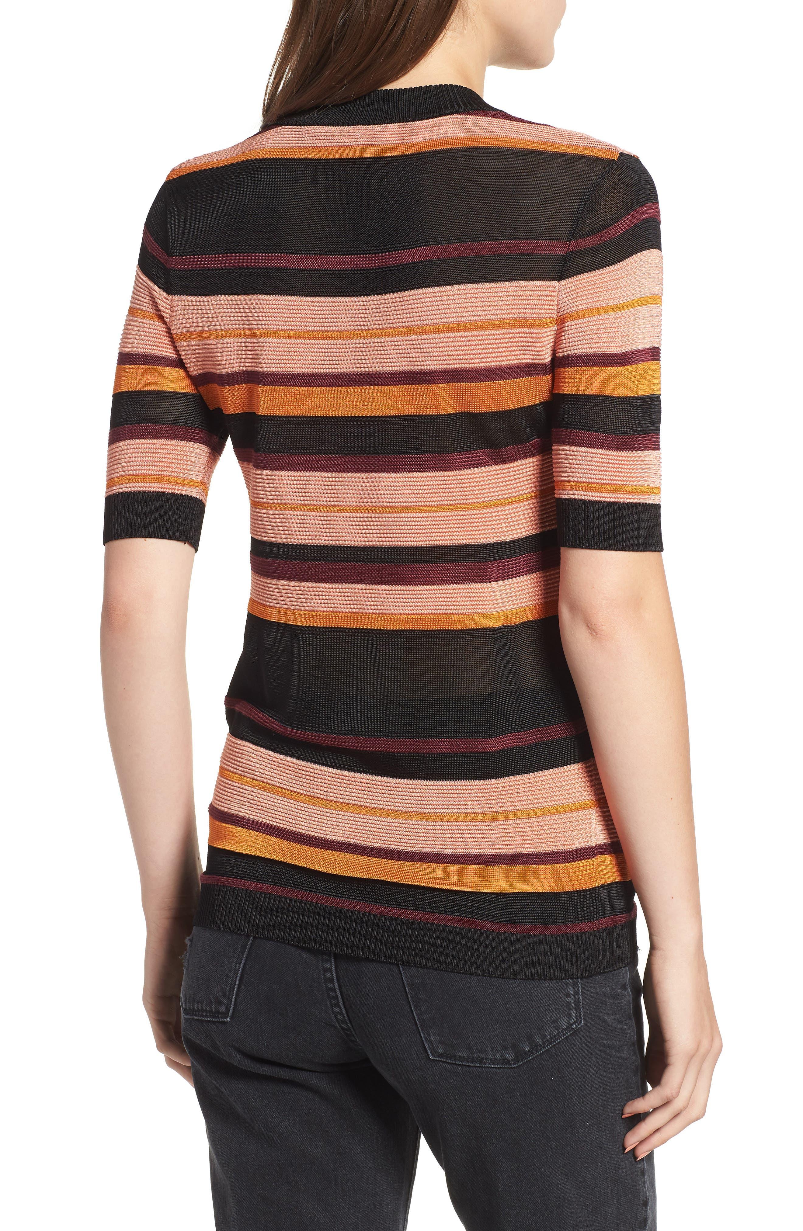 Stripe Knit Top,                             Alternate thumbnail 2, color,                             931