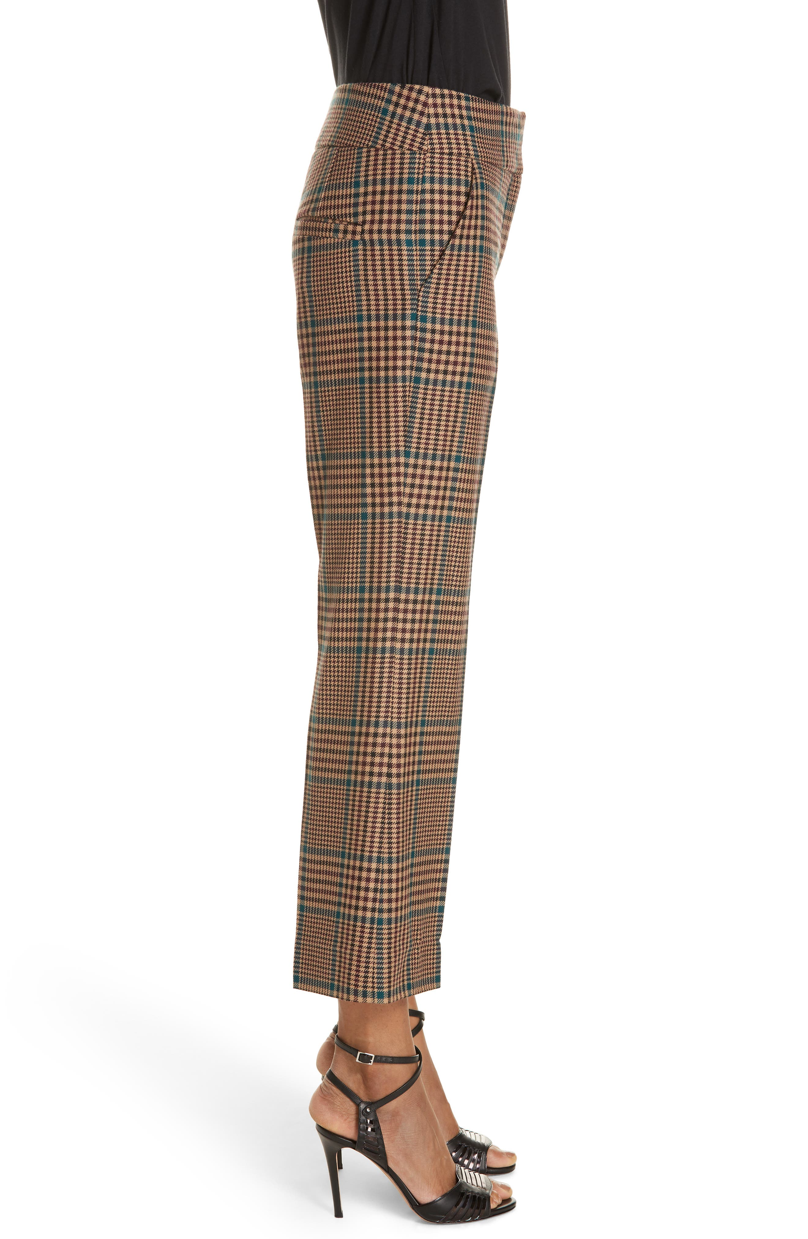 Cormac Plaid Wool Blend Trousers,                             Alternate thumbnail 3, color,                             230