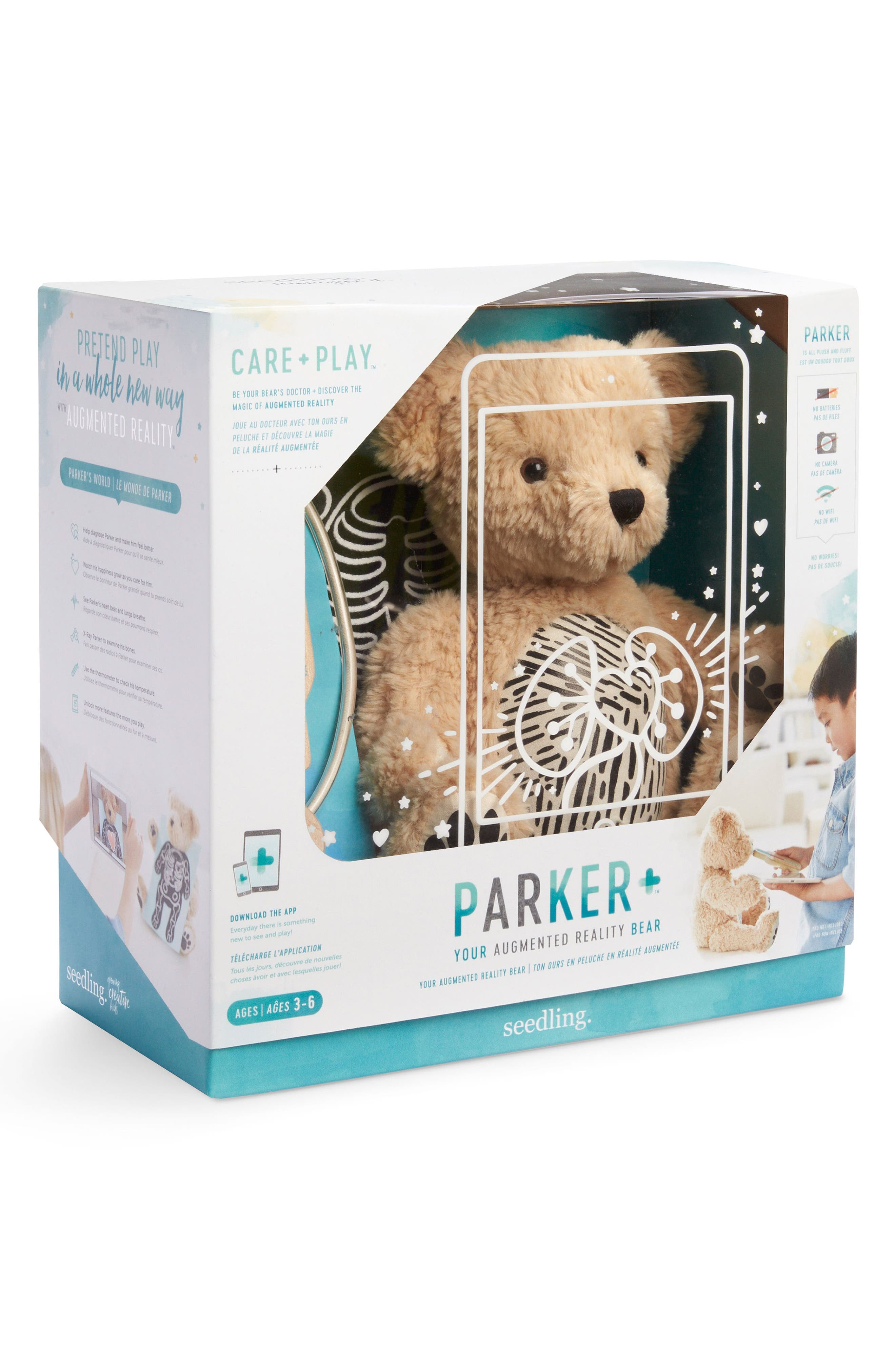 Parker: Your Augmented Reality Interactive Stuffed Animal,                             Alternate thumbnail 4, color,                             TEAL
