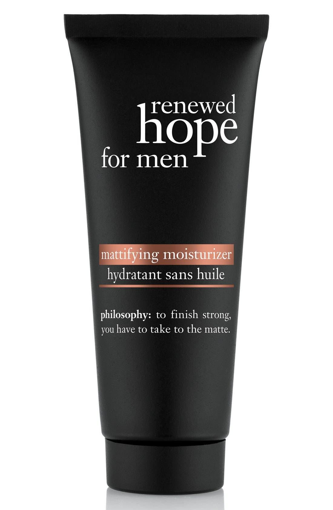 'renewed hope' mattifying moisturizer for men,                             Main thumbnail 1, color,                             NO COLOR