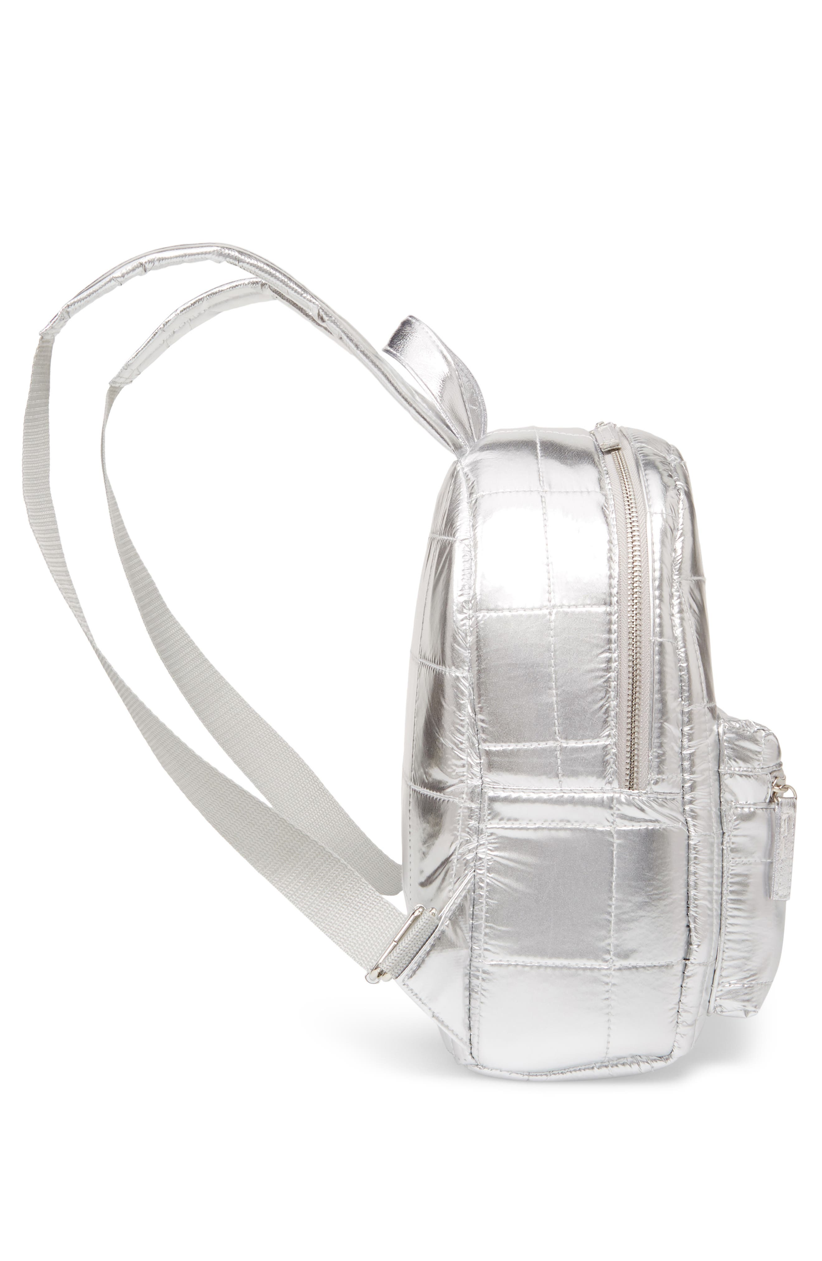 Mini Metallic Puffer Backpack,                             Alternate thumbnail 5, color,                             040
