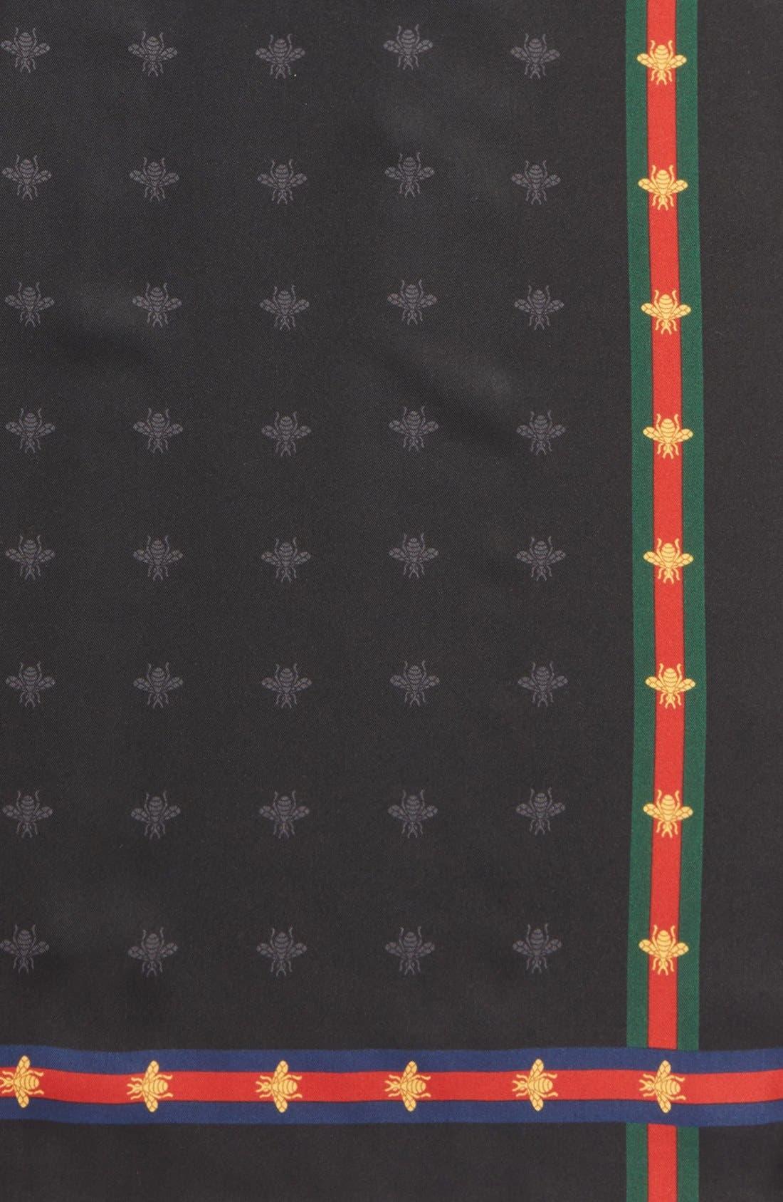 Runebis Silk Twill Pocket Square,                             Alternate thumbnail 5, color,                             003