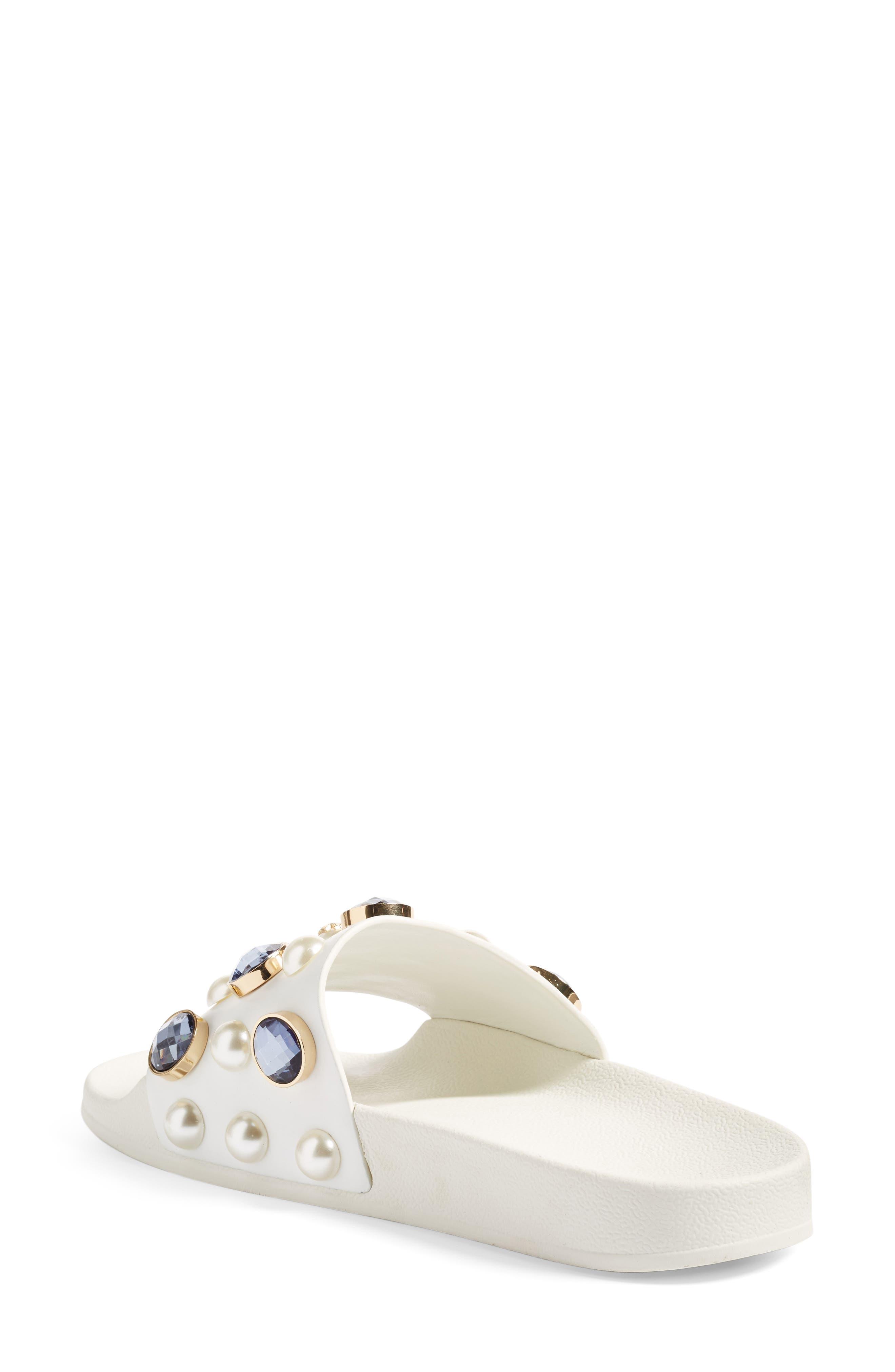 Vail Embellished Slide Sandal, Main, color, 100