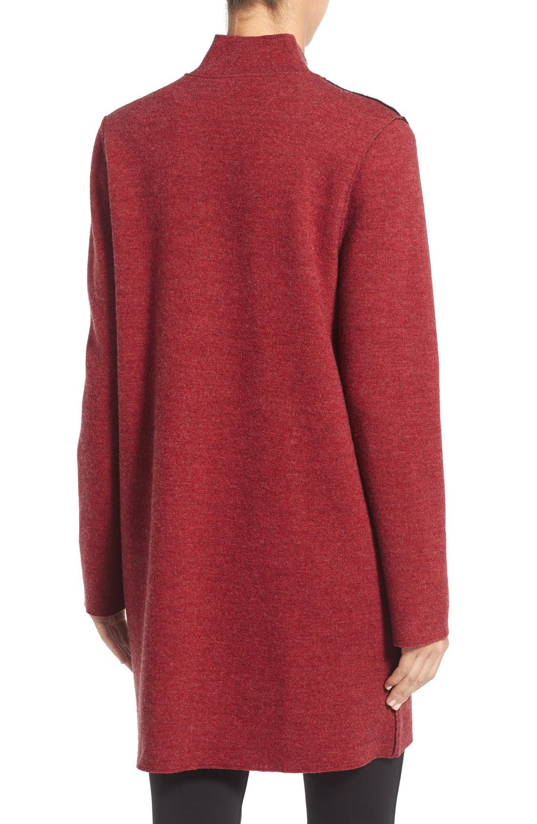 Notch Collar Merino Wool Topper,                             Alternate thumbnail 16, color,