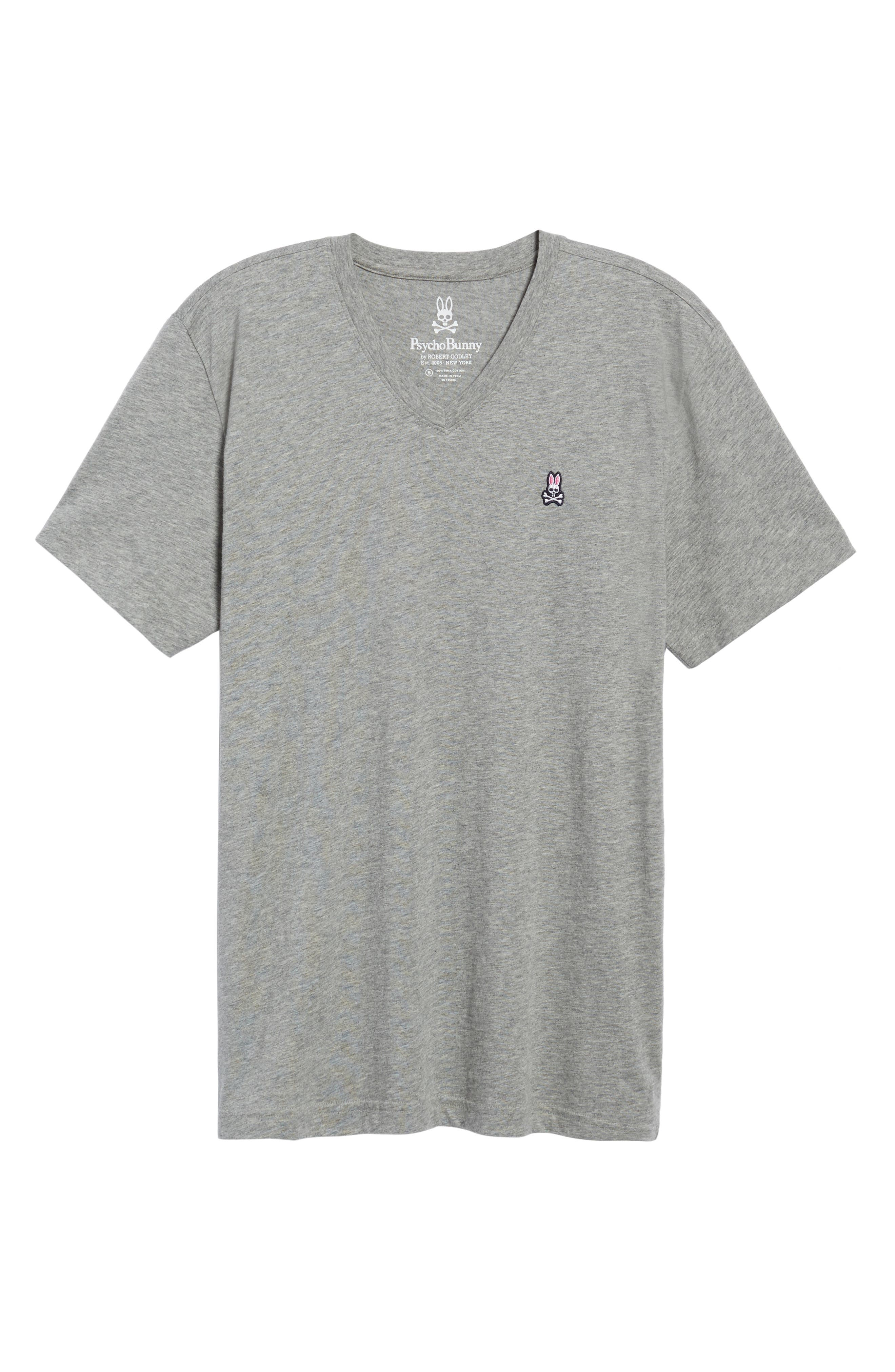 Classic V-Neck T-Shirt,                             Alternate thumbnail 6, color,                             HEATHER GREY
