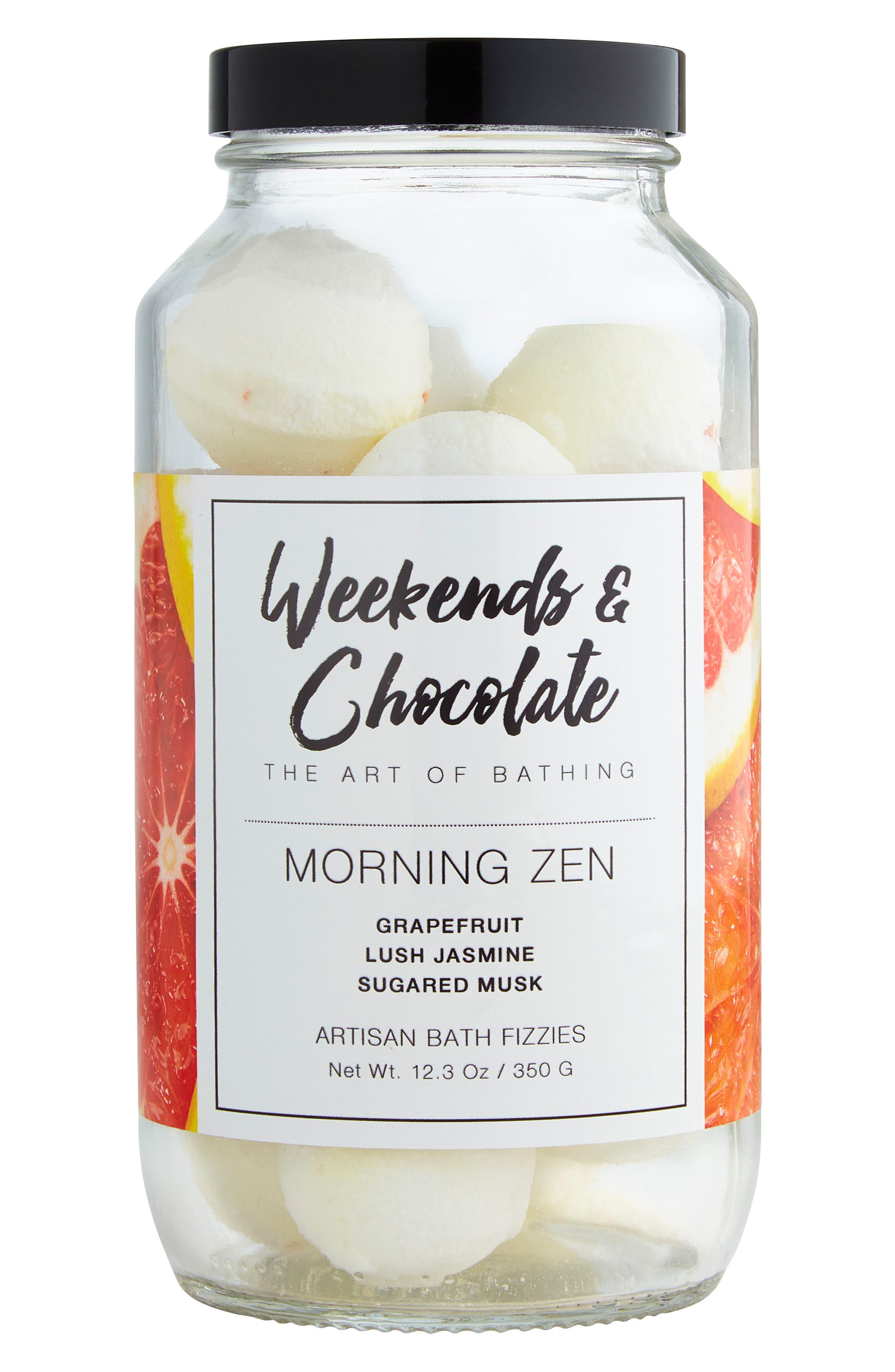 Morning Zen Bath Fizzies,                         Main,                         color, 100