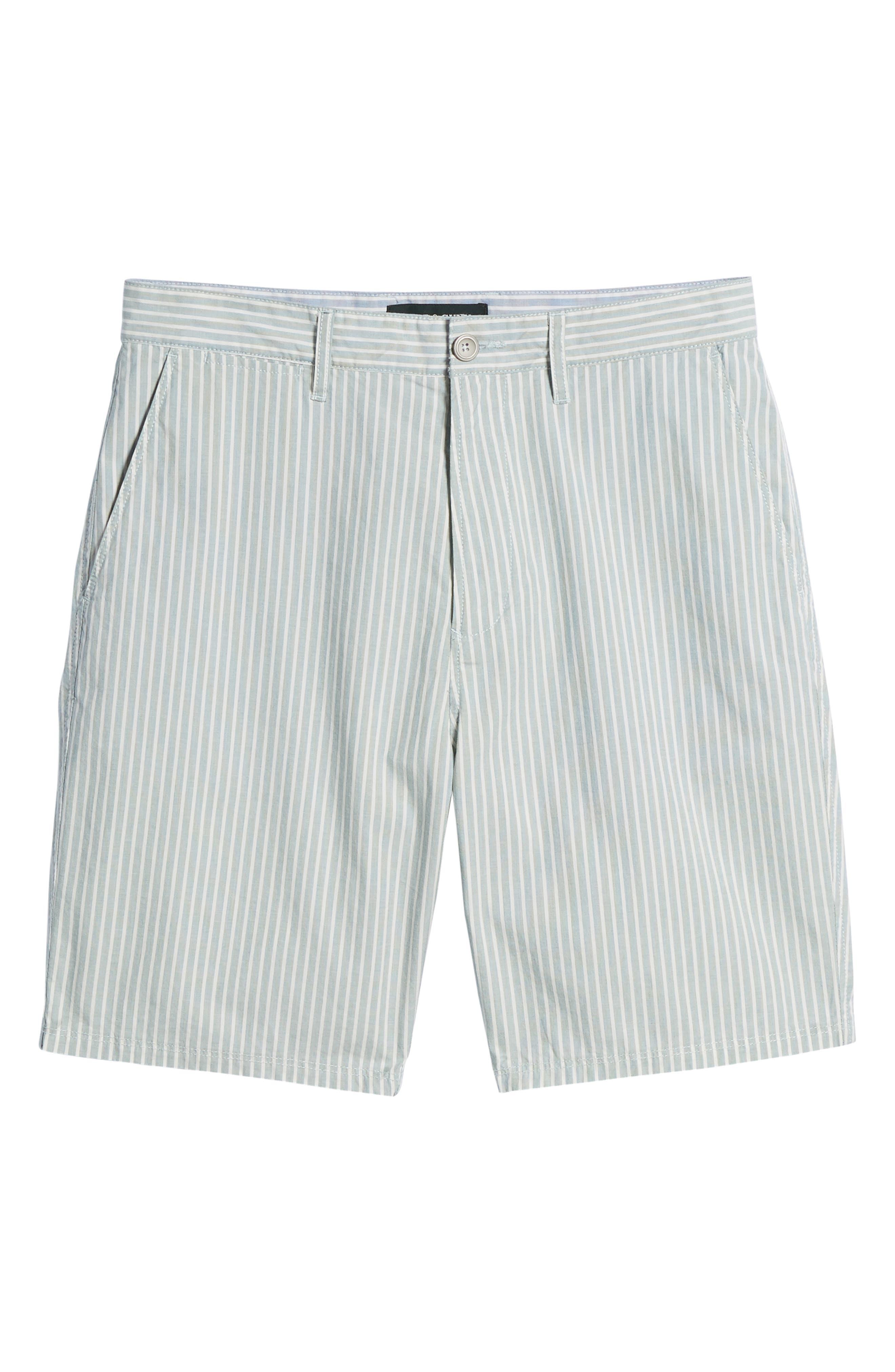 Preston Regular Fit Flat Front Shorts,                             Alternate thumbnail 6, color,                             PINE